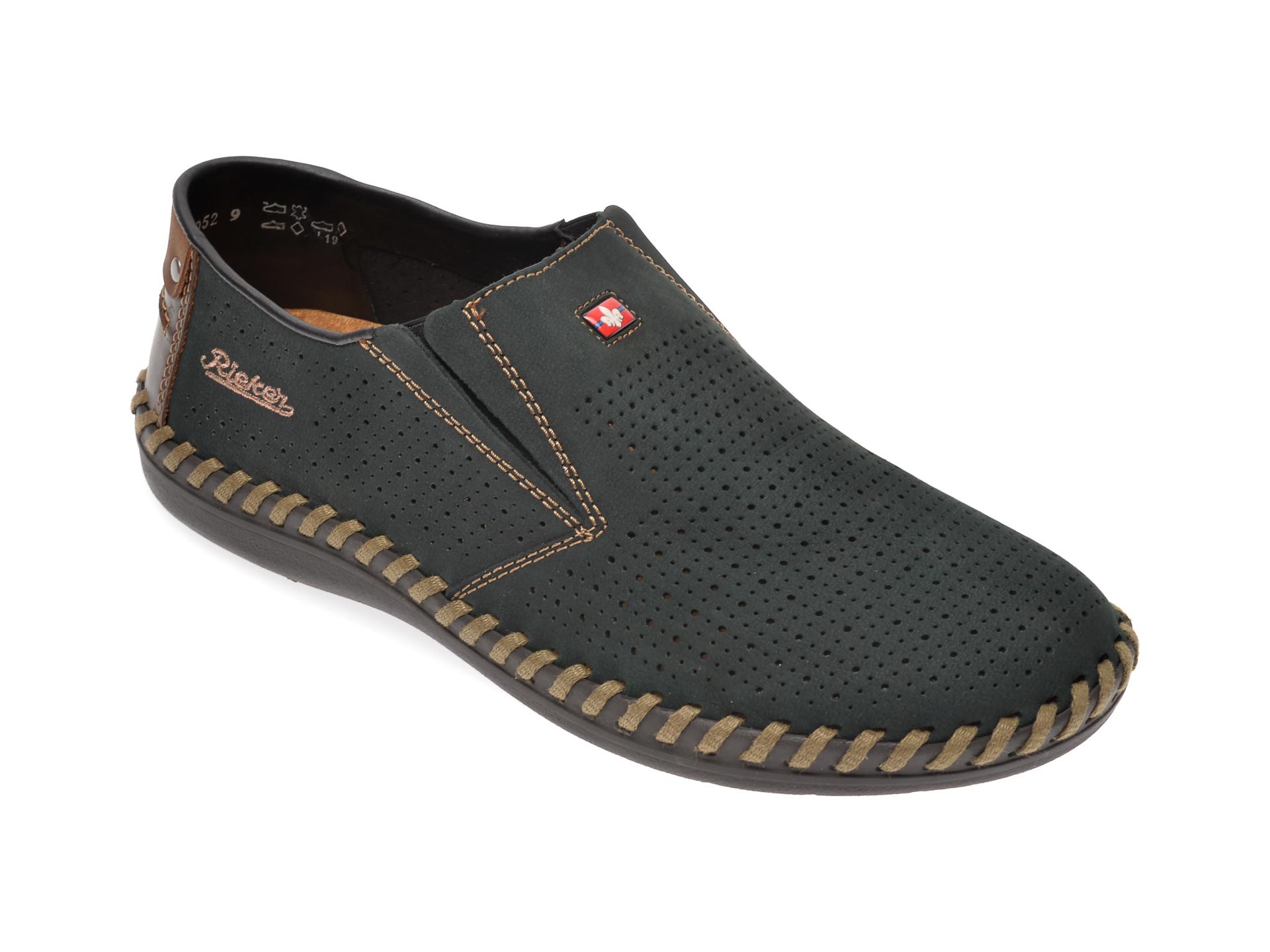 Pantofi RIEKER bleumarin, B2487, din piele naturala imagine