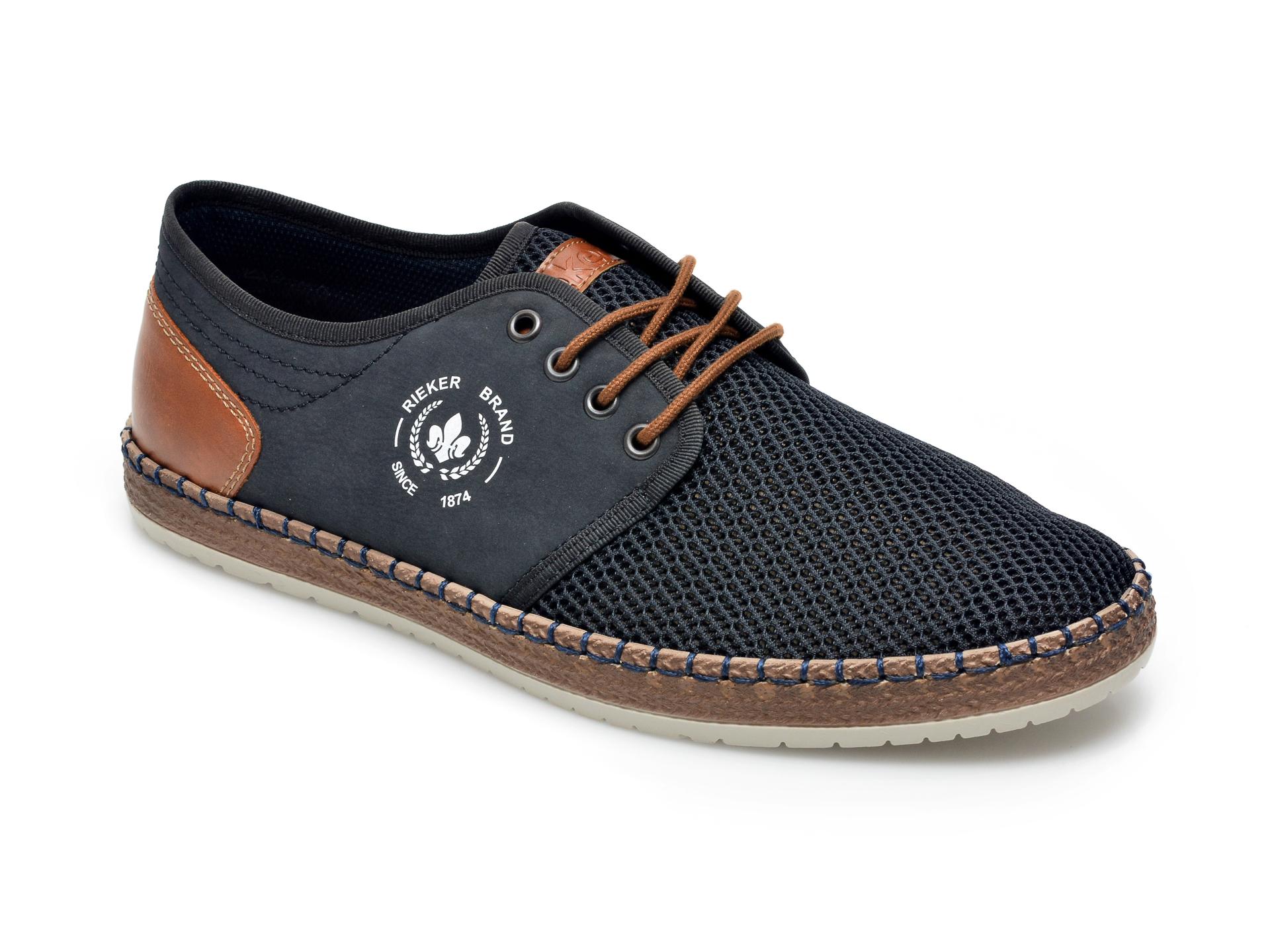 Pantofi RIEKER bleumarin, B5249, din material textil imagine