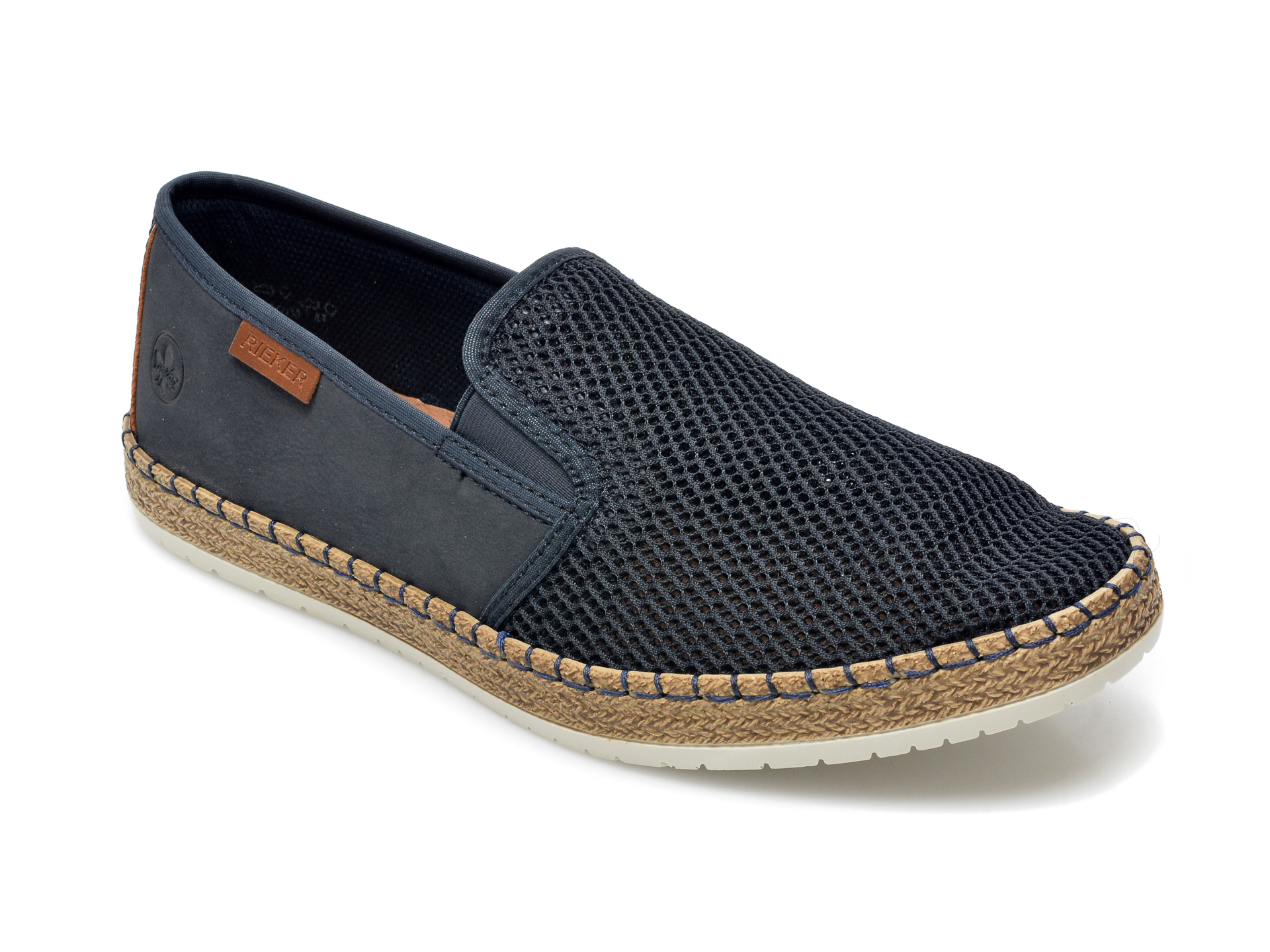 Pantofi RIEKER bleumarin, B5265, din material textil imagine