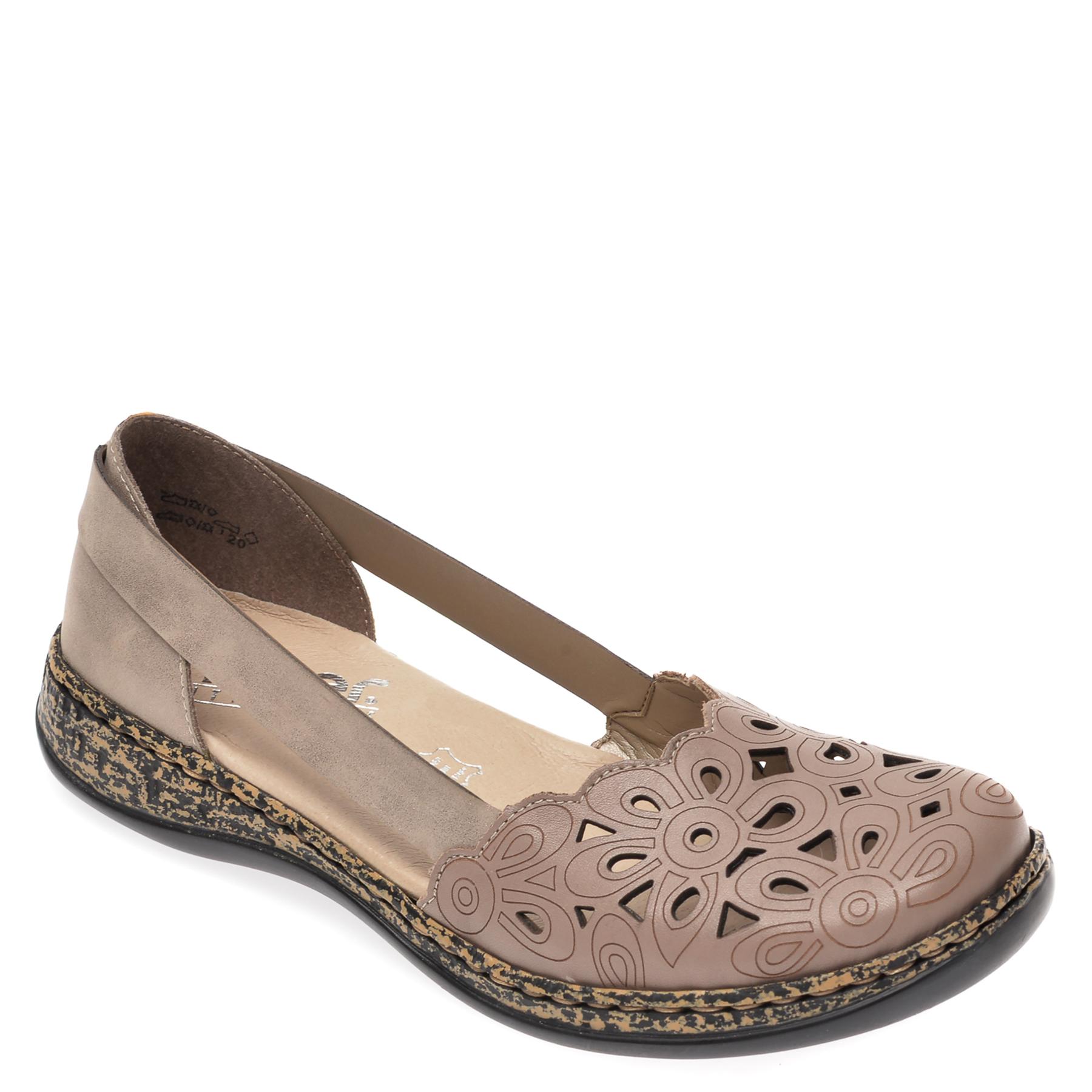 Pantofi RIEKER gri, 46395, din piele naturala