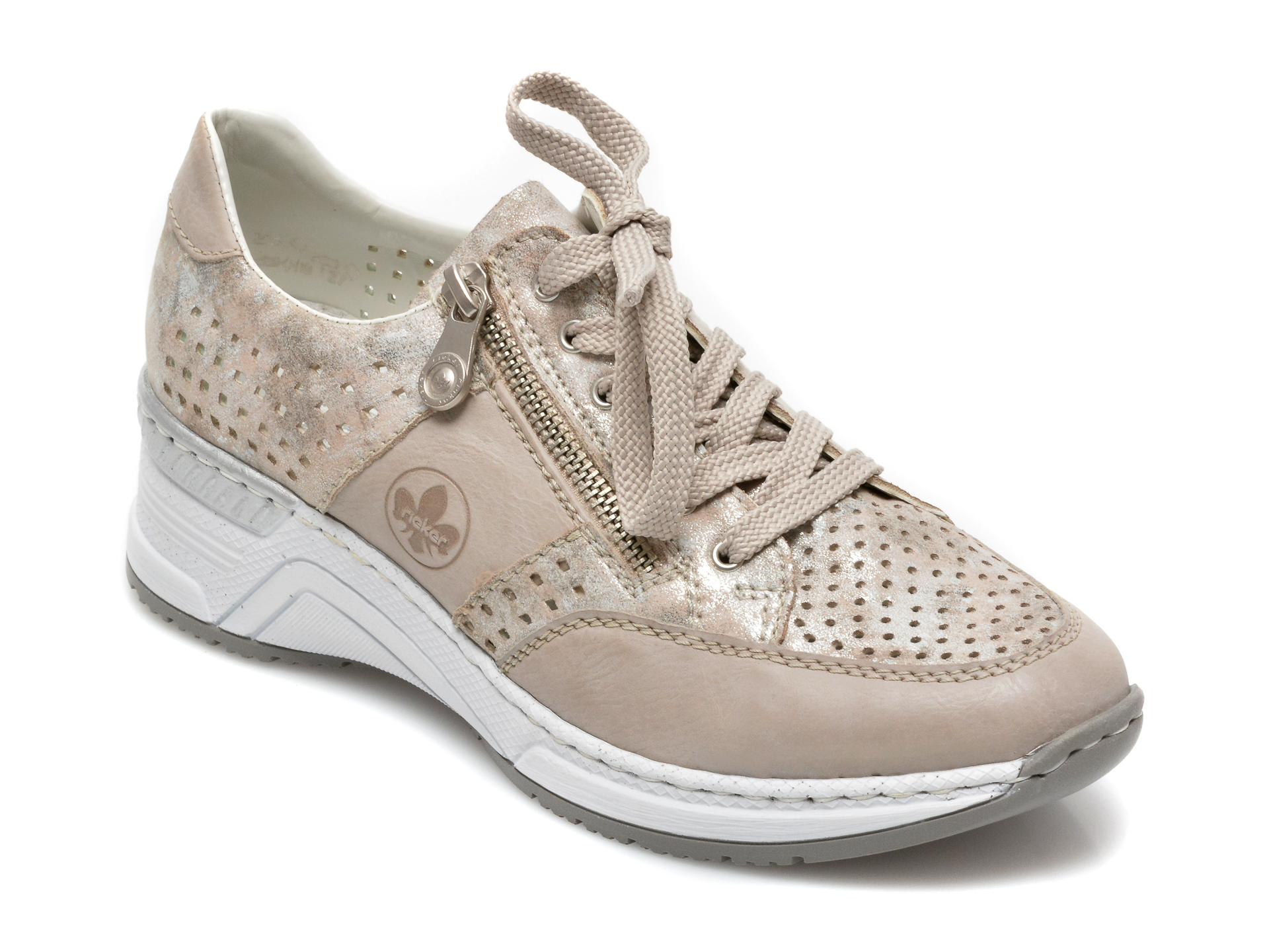 Pantofi RIEKER gri, N4327, din piele ecologica imagine otter.ro 2021