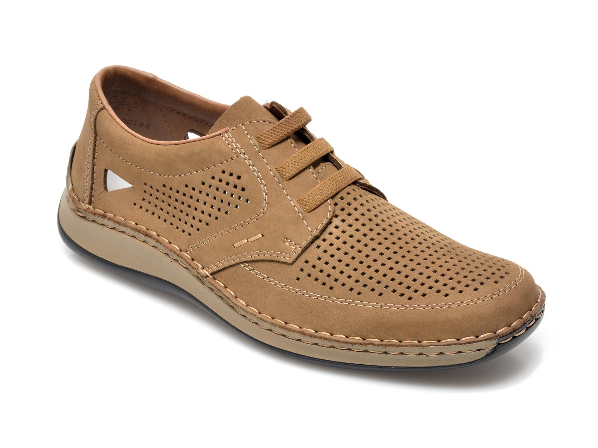 Pantofi RIEKER maro, 5259, din nabuc imagine otter.ro 2021