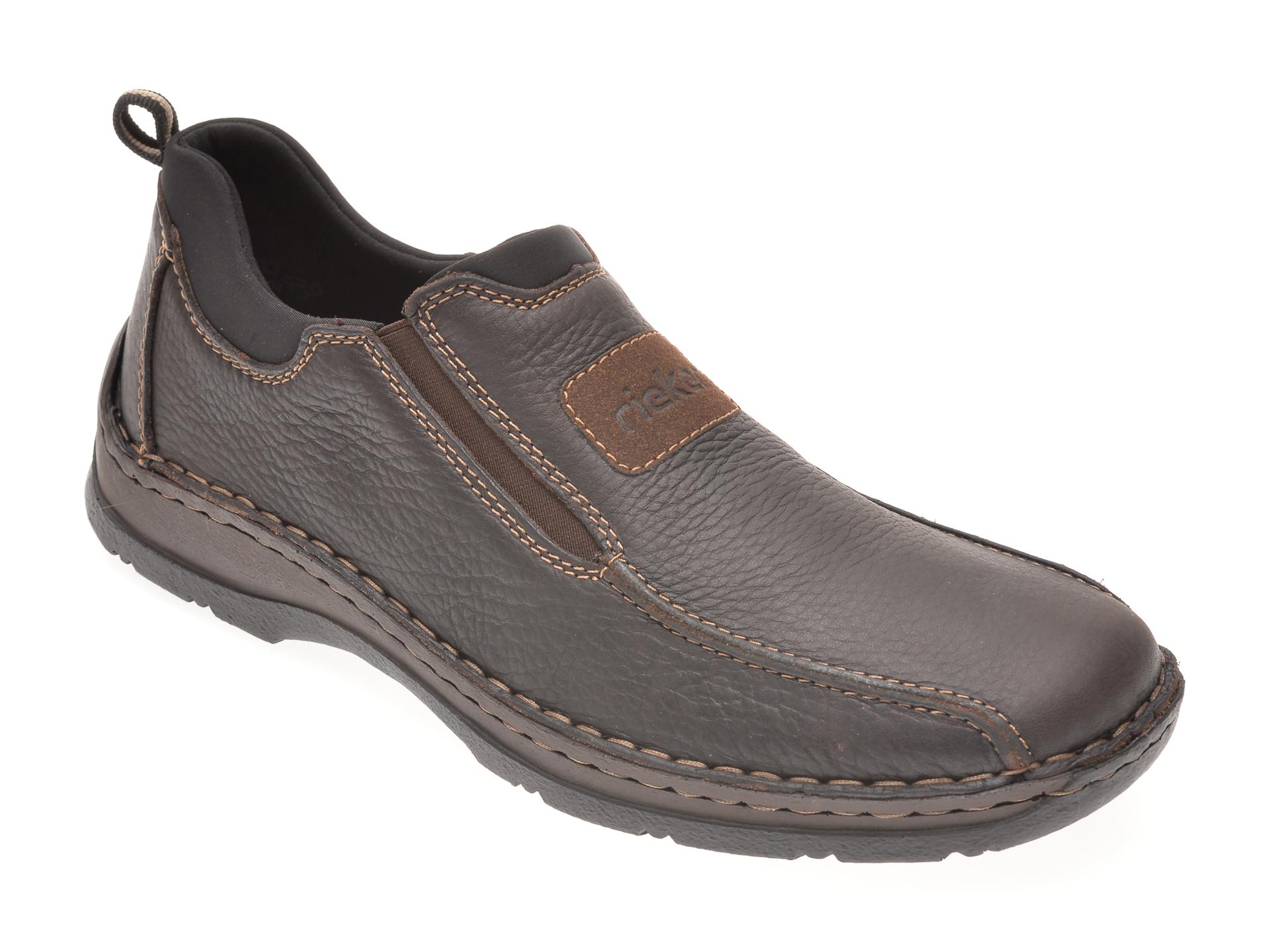 Pantofi RIEKER negri, 5363, din piele naturala imagine