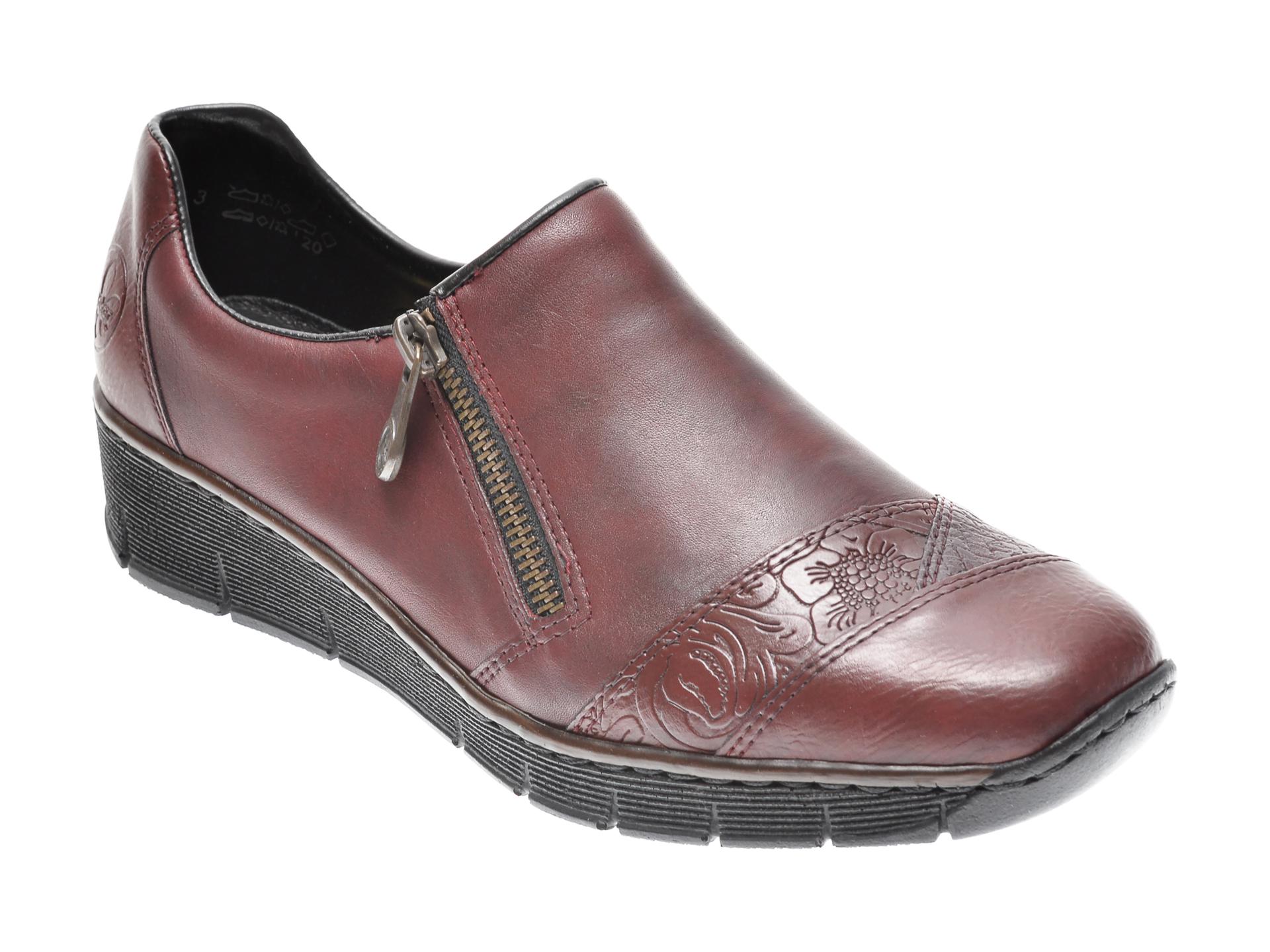 Pantofi RIEKER visinii, 53761, din piele ecologica