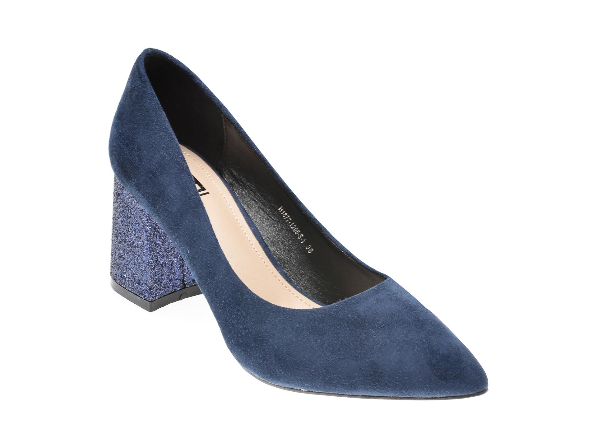 Pantofi RIO FIORE bleumarin, H1877, din piele ecologica imagine