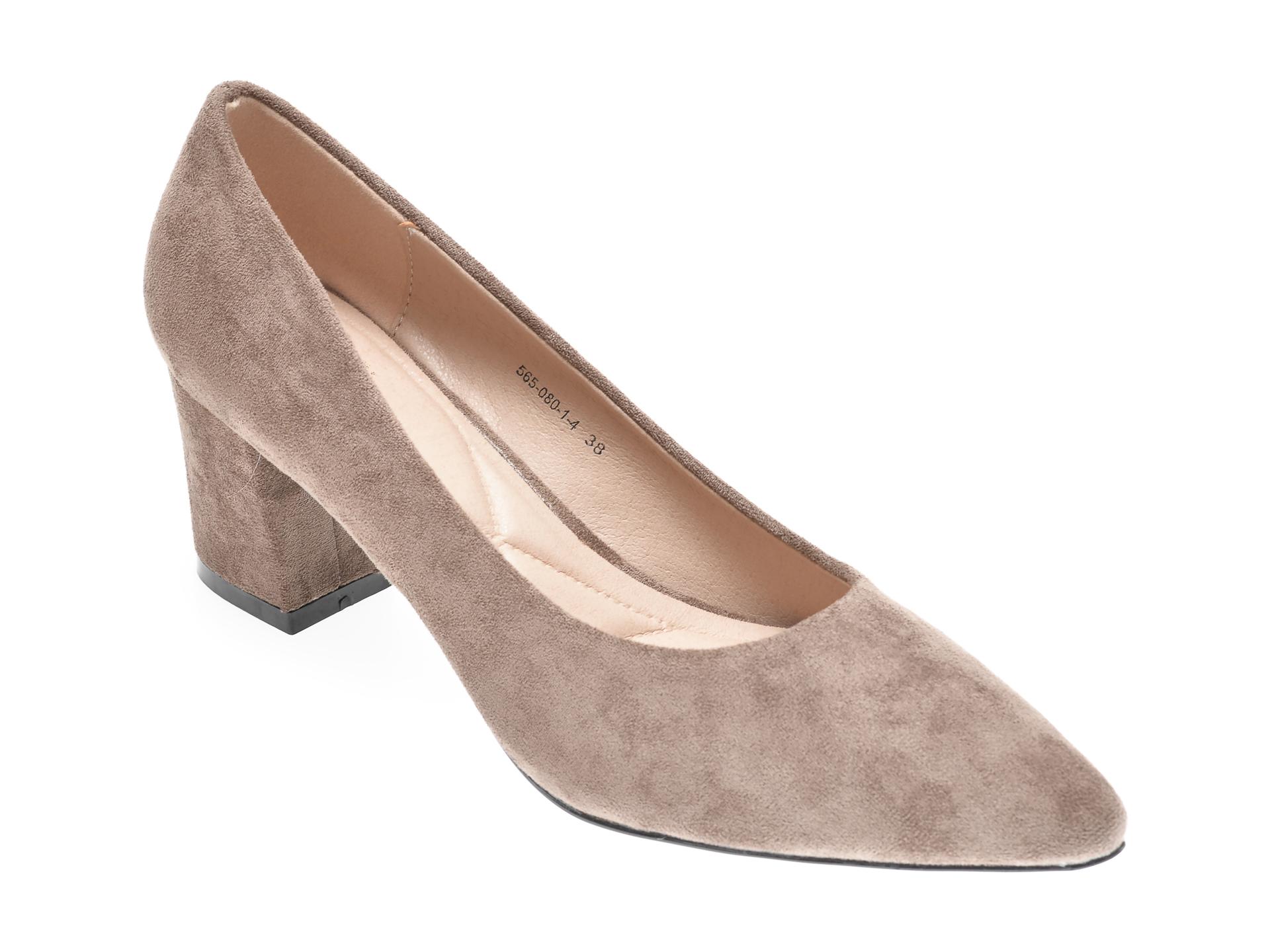 Pantofi RIO FIORE gri, 565080, din piele ecologica imagine