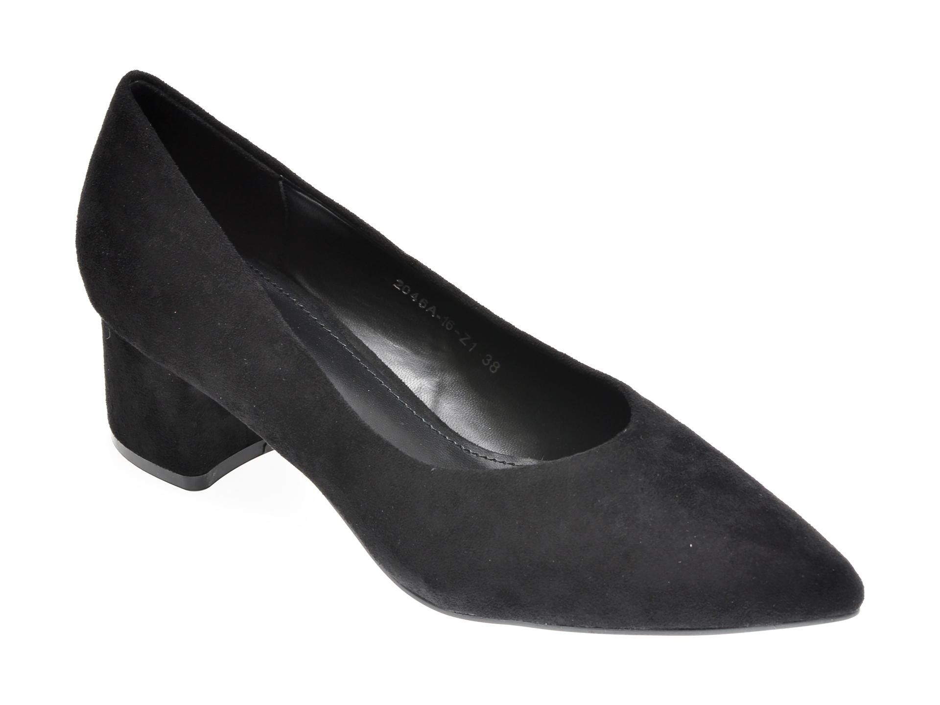 Pantofi RIO FIORE negri, 2046A, din piele ecologica imagine