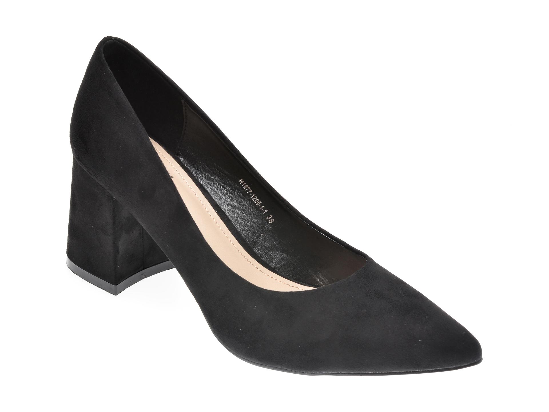 Pantofi RIO FIORE negri, H1877, din piele ecologica imagine otter.ro