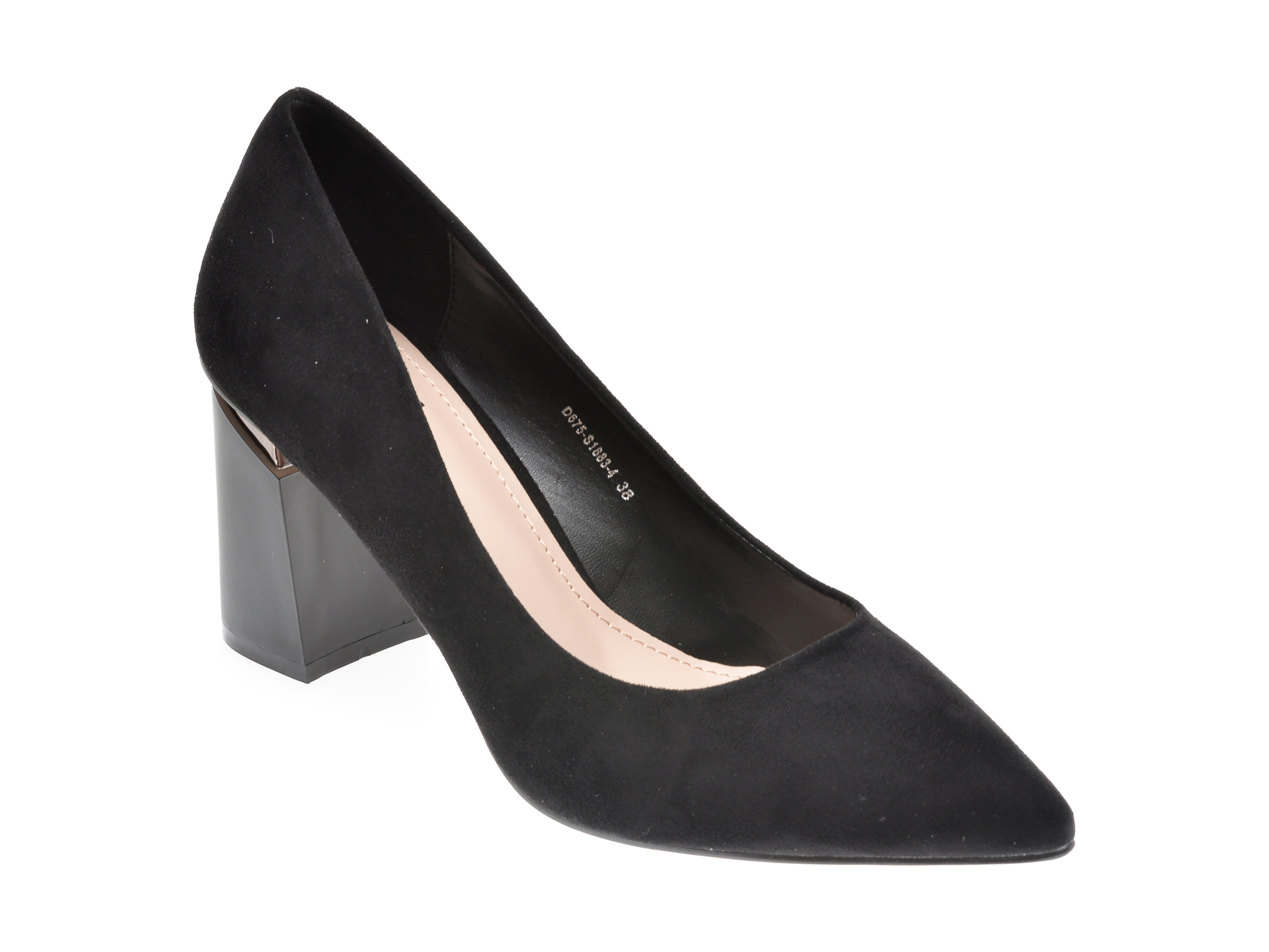 Pantofi RIO FIORE negri, S1883, din piele ecologica imagine