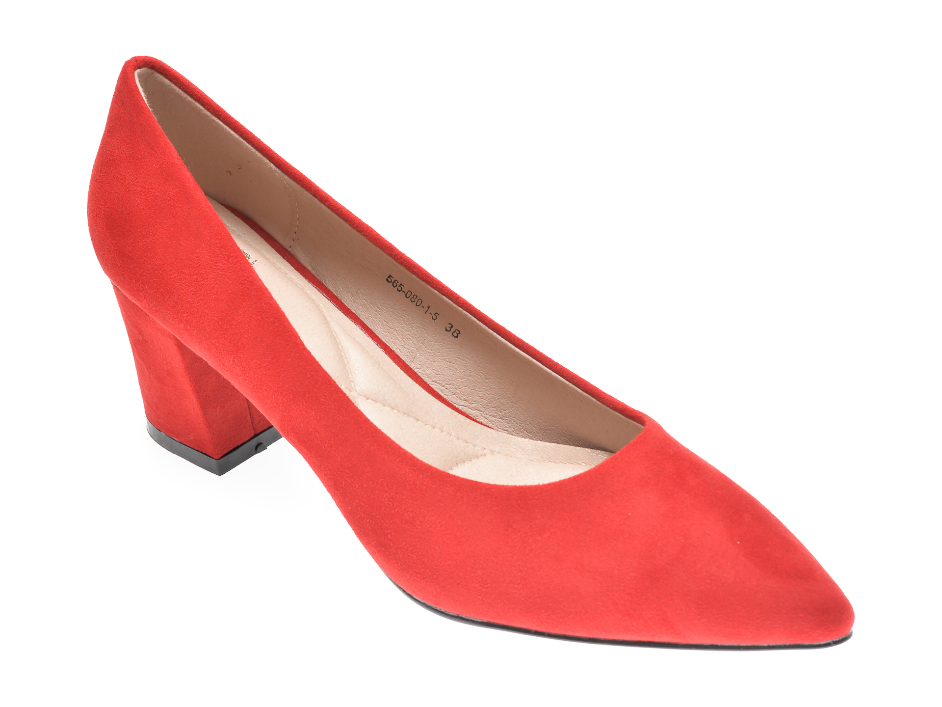 Pantofi RIO FIORE rosii, 565080, din piele ecologica imagine otter.ro