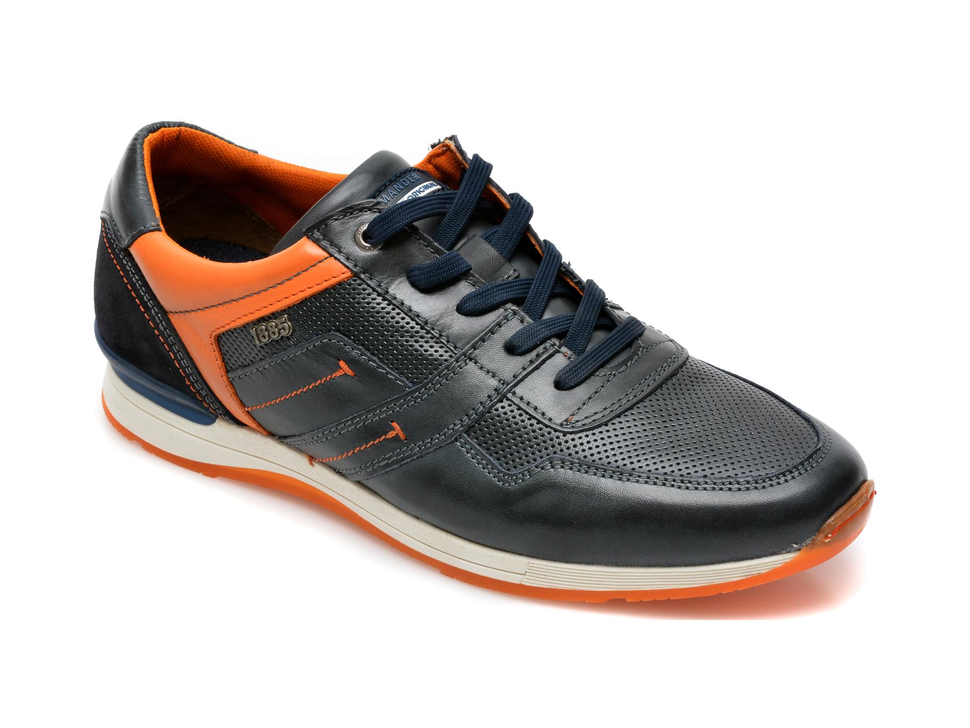 Pantofi SALAMANDER bleumarin, 56201, din piele naturala imagine otter.ro