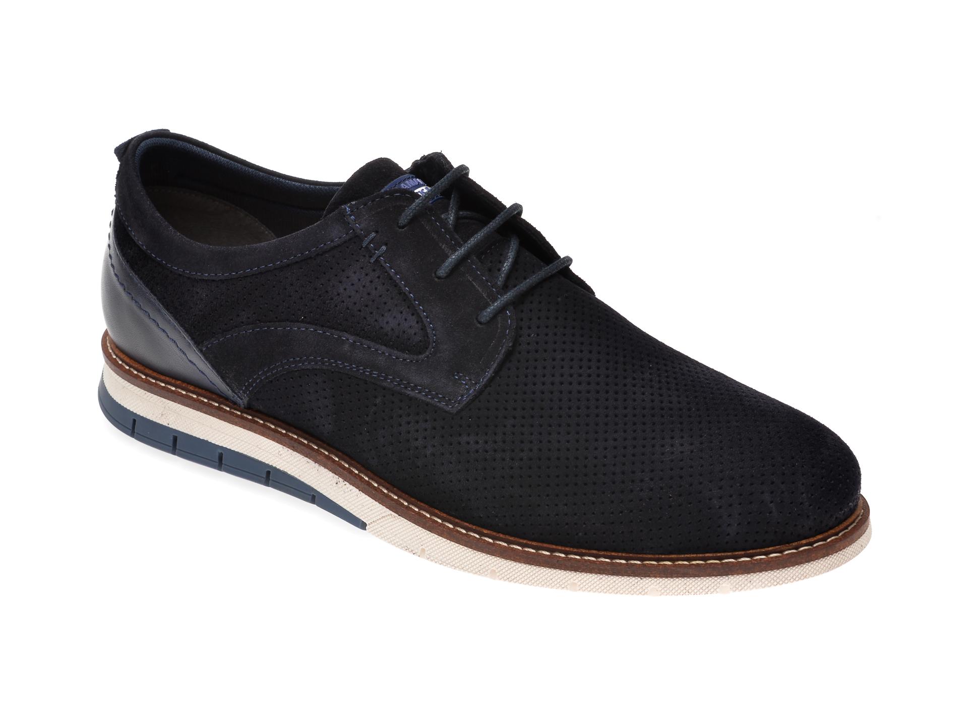 Pantofi SALAMANDER bleumarin, 56501, din piele intoarsa