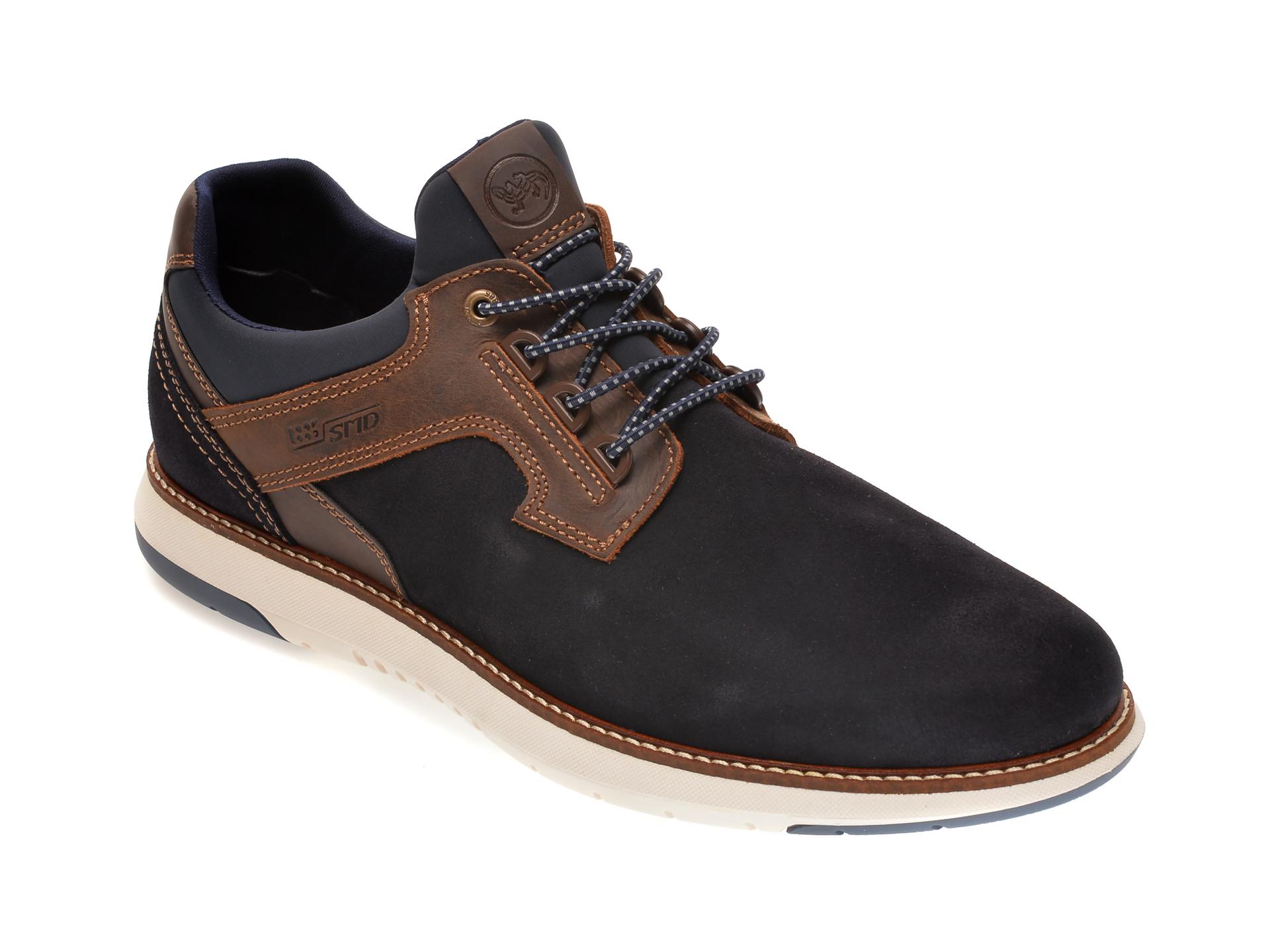 Pantofi SALAMANDER bleumarin, 60001, din piele intoarsa imagine