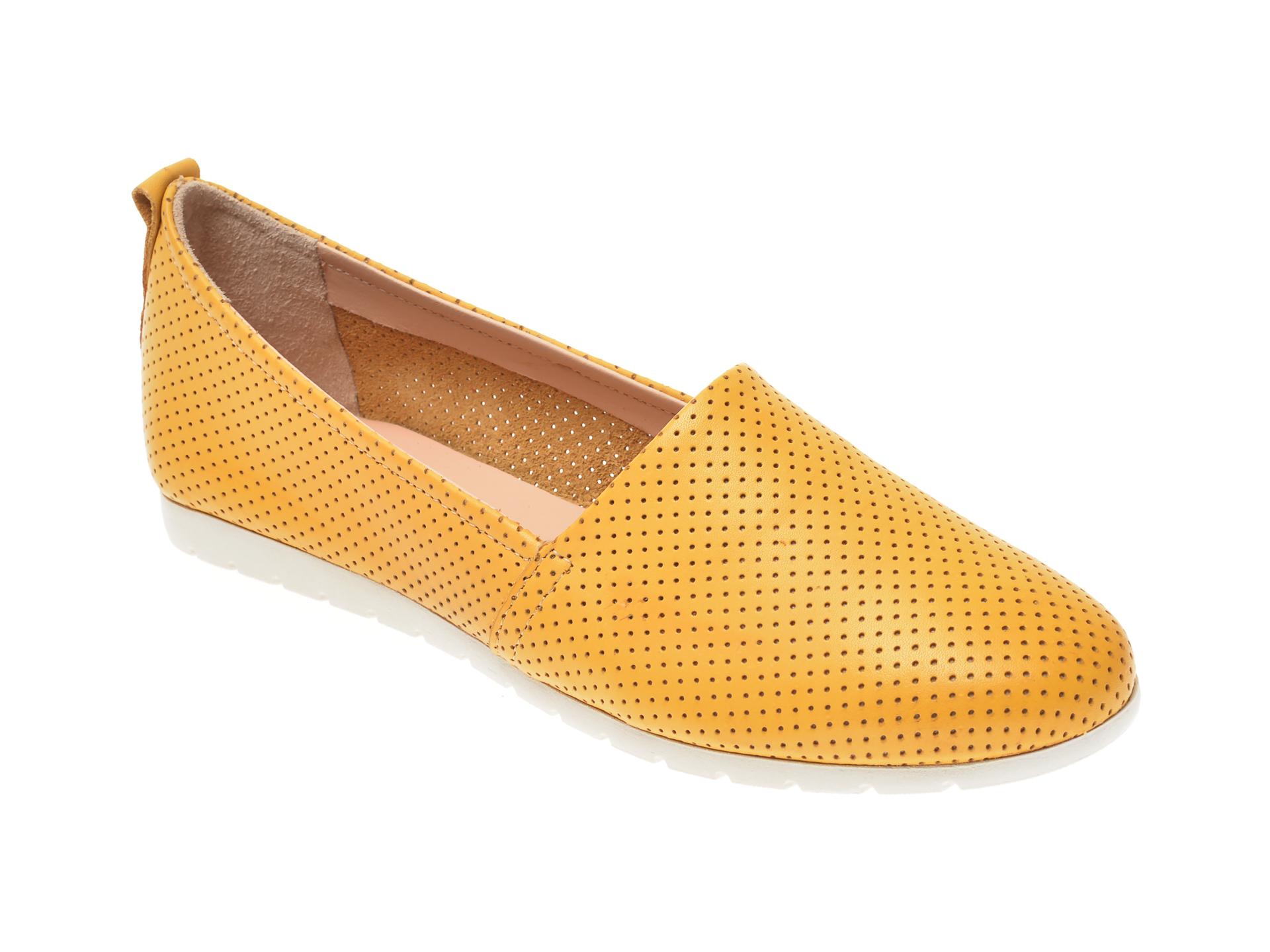 Pantofi SALAMANDER galbeni, 44501, din piele naturala imagine