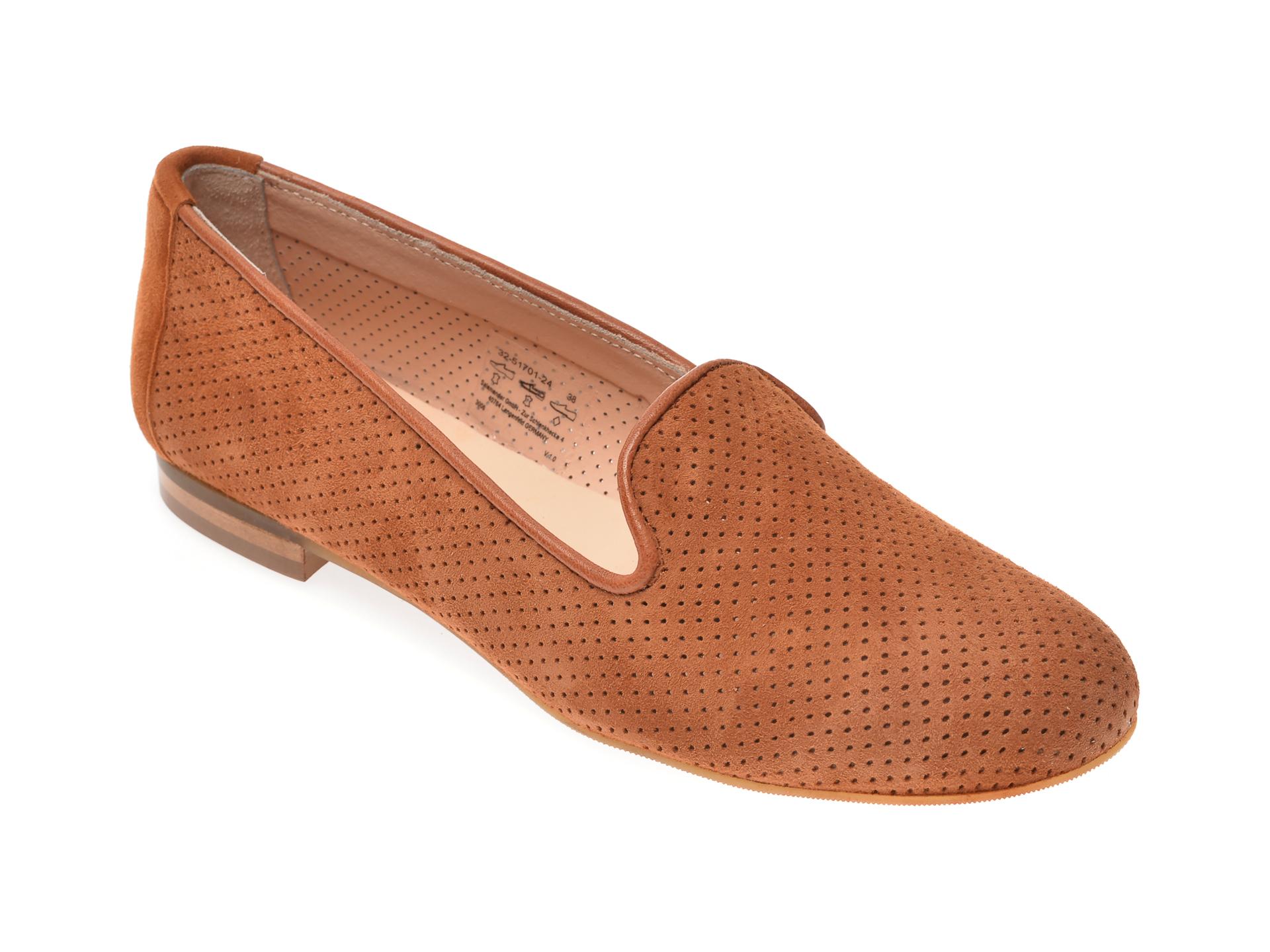 Pantofi SALAMANDER maro, 51701, din piele intoarsa