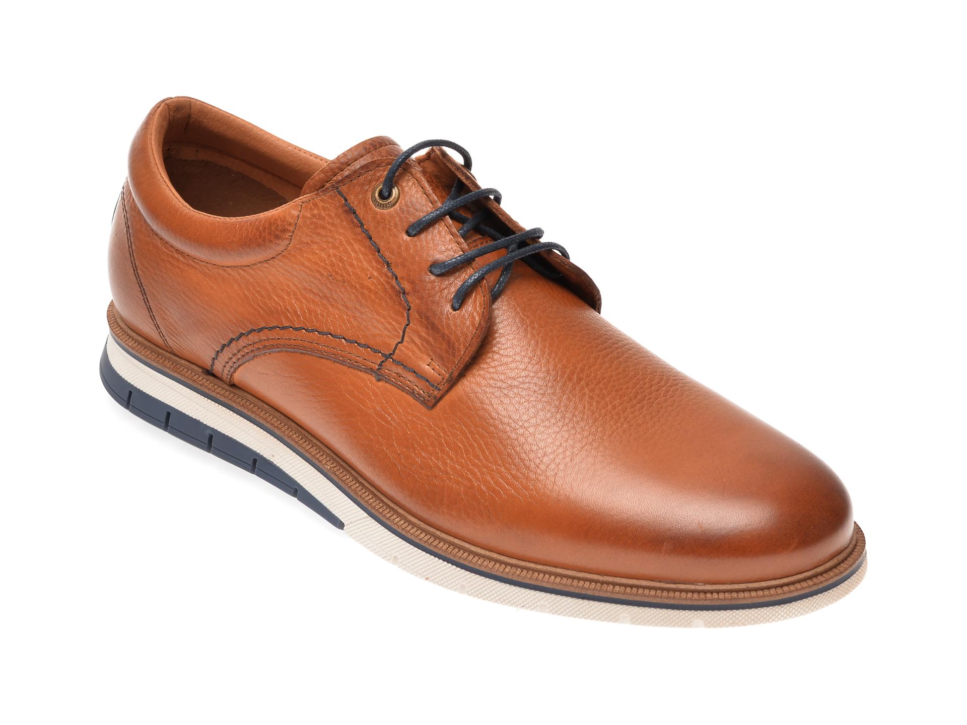 Pantofi SALAMANDER maro, 56515, din piele naturala imagine