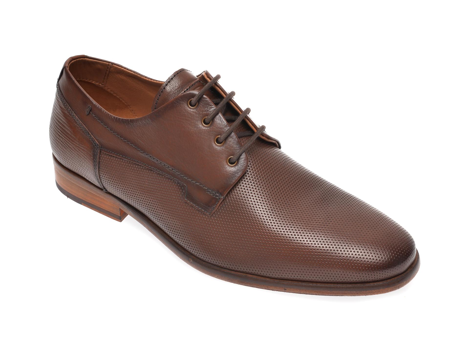 Pantofi SALAMANDER maro, 57806, din piele naturala imagine