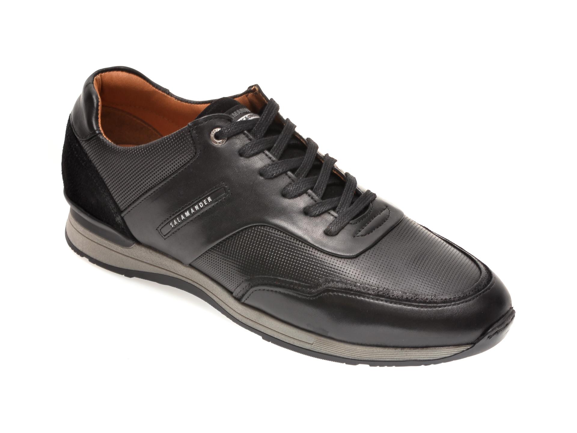Pantofi SALAMANDER negri, 56208, din piele naturala imagine otter.ro