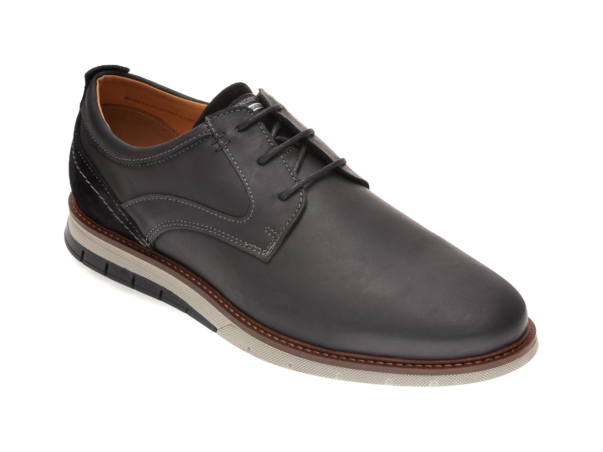 Pantofi SALAMANDER negri, 56501, din piele naturala imagine