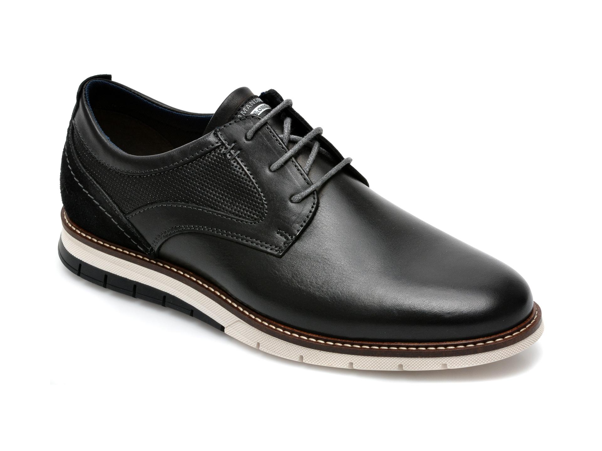Pantofi SALAMANDER negri, 56501, din piele naturala imagine otter.ro