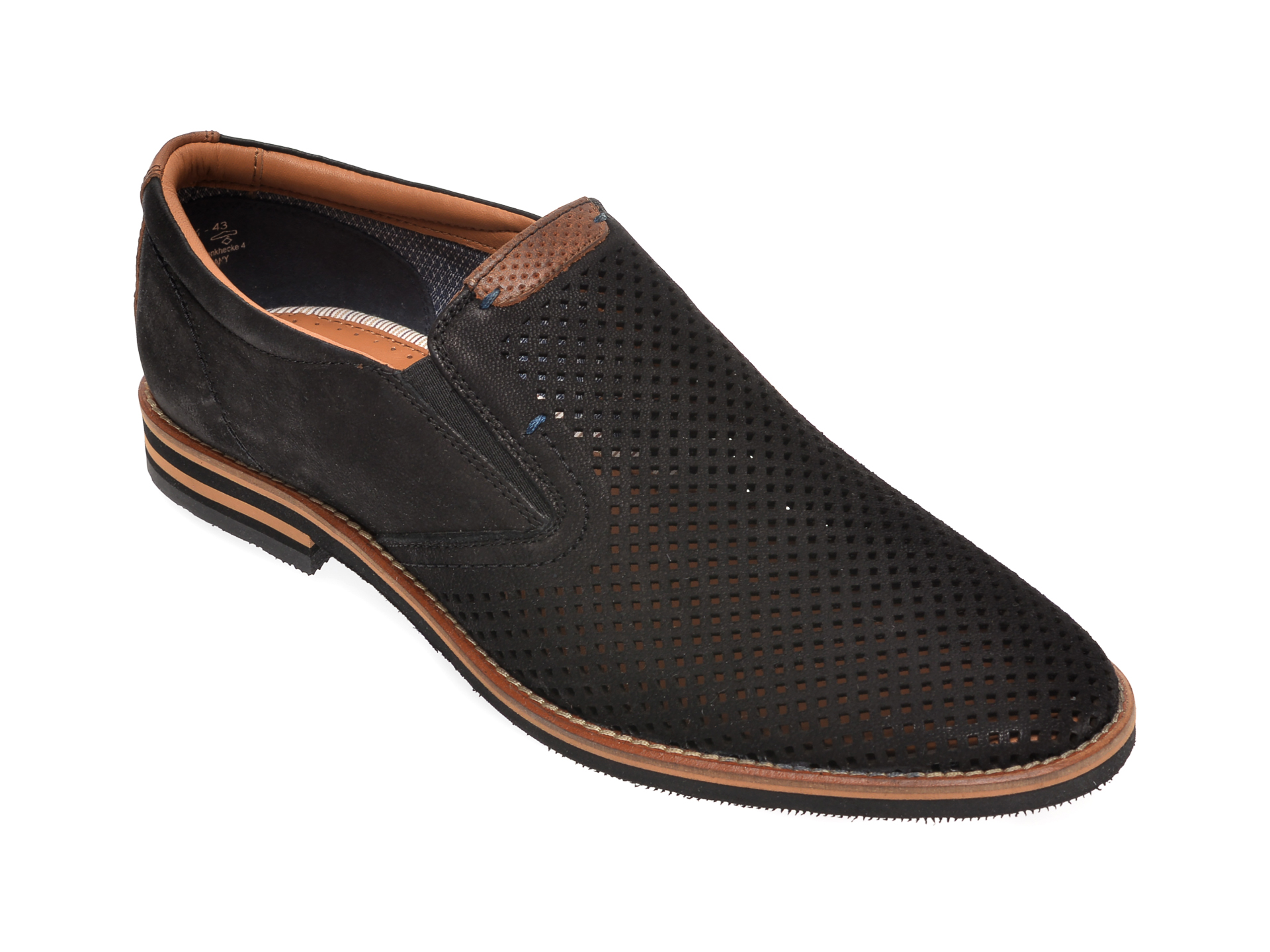 Pantofi SALAMANDER negri, 57329, din nabuc imagine