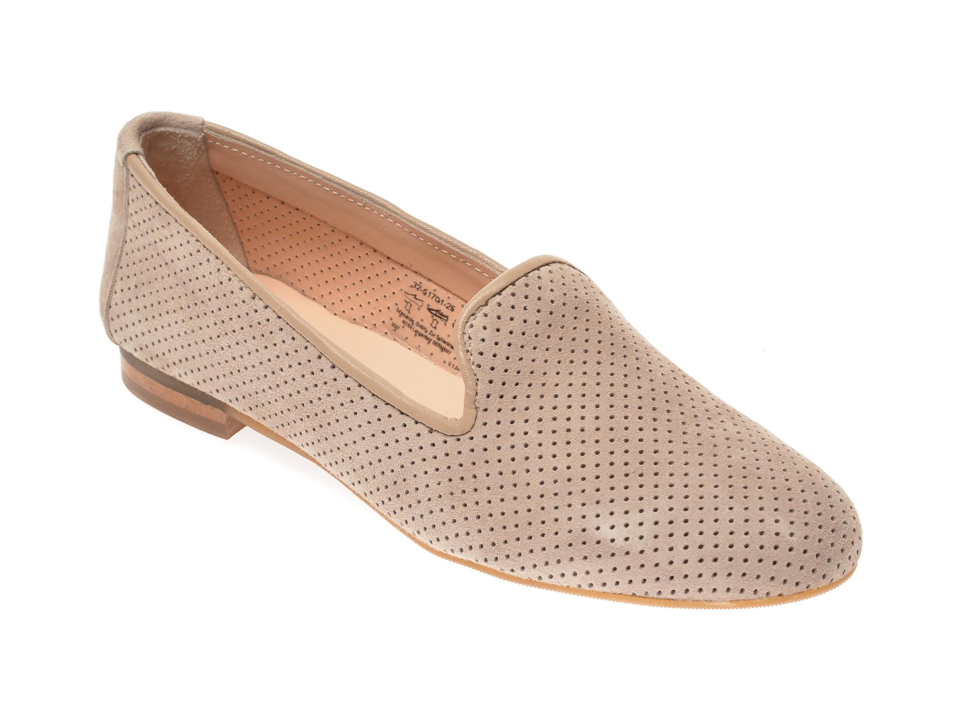 Pantofi SALAMANDER taupe, 51701, din piele intoarsa imagine