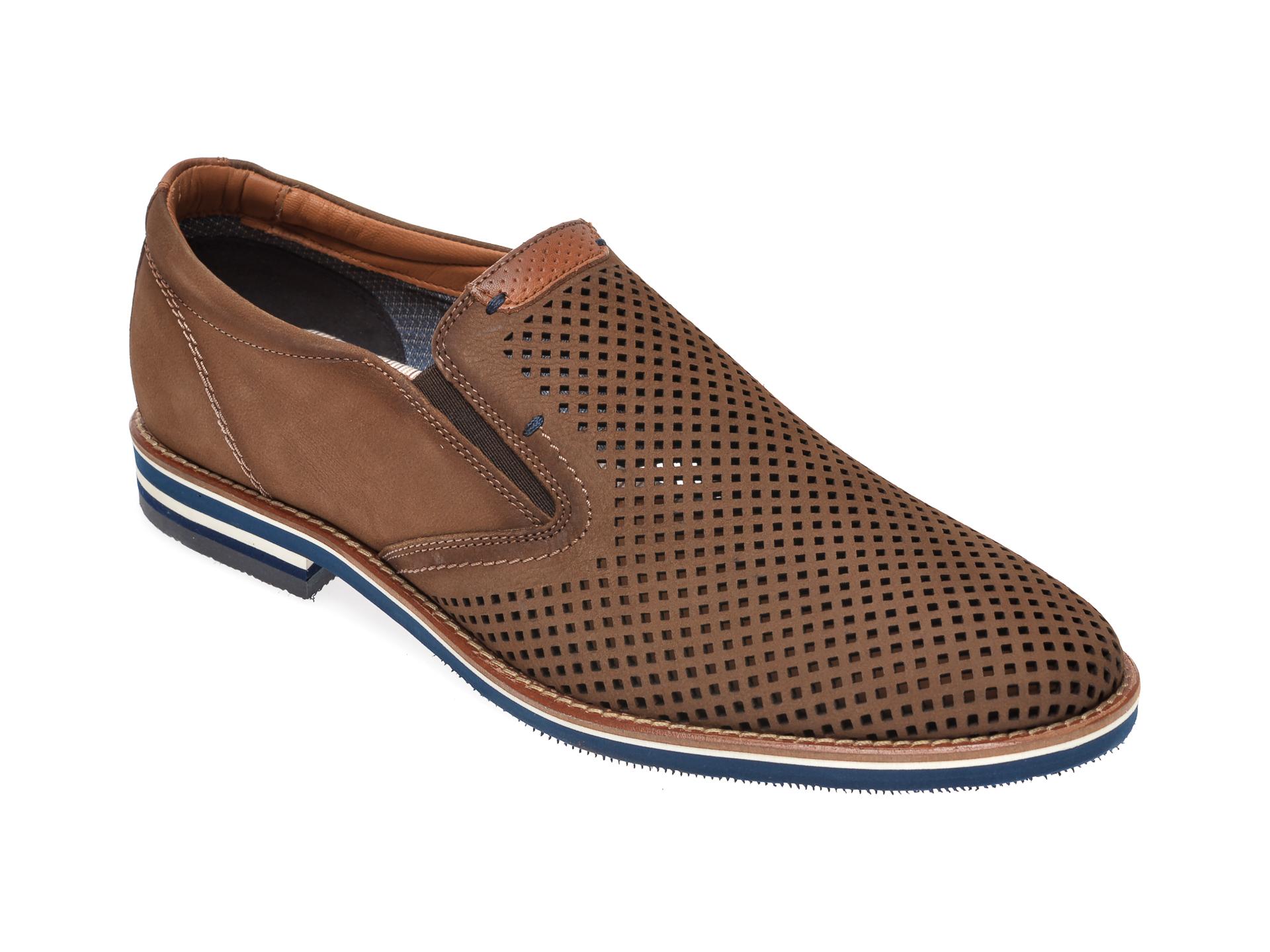 Pantofi Salamander Taupe, 57329, Din Nabuc