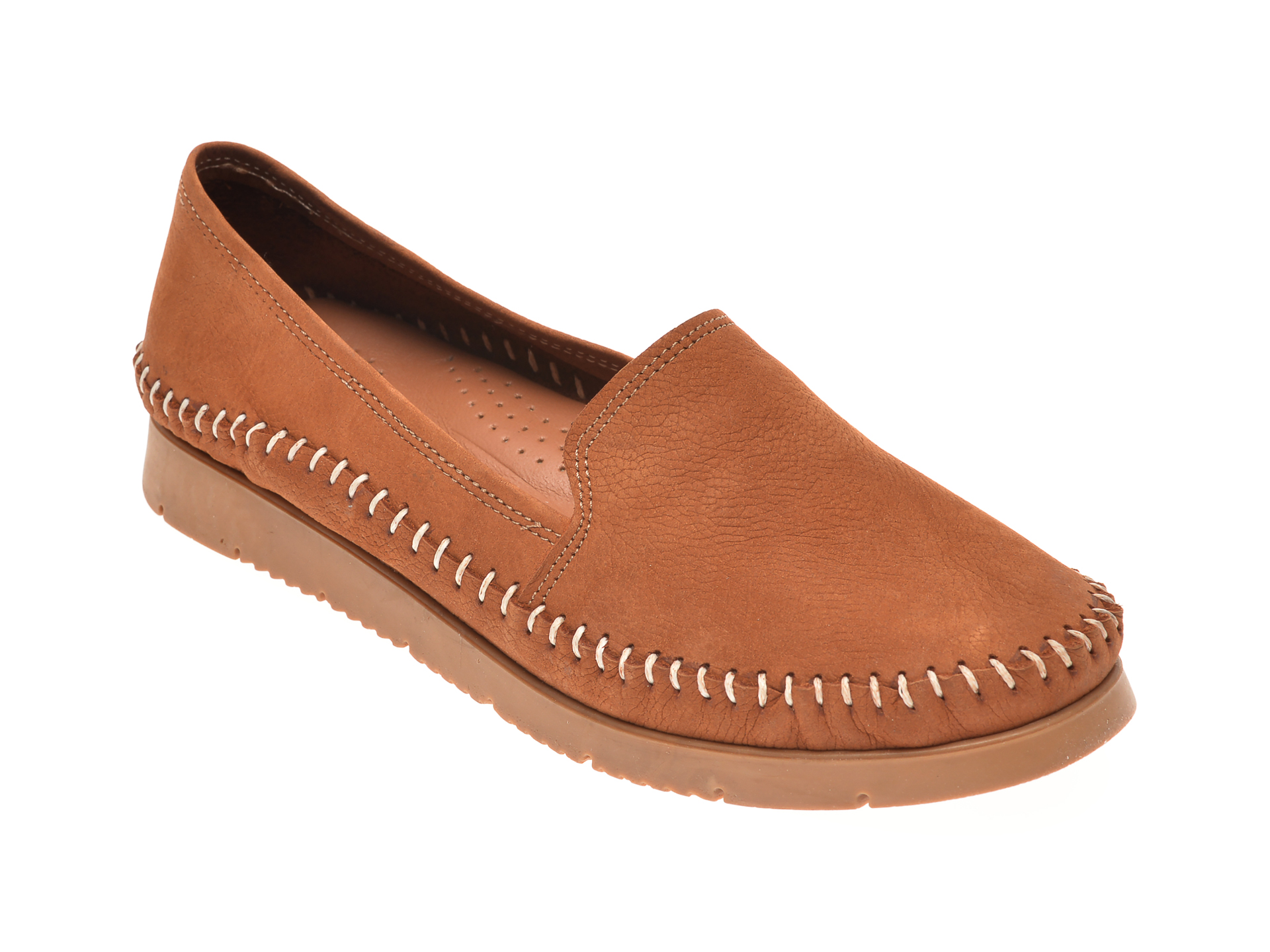 Pantofi SHE FAME maro, 1427, din piele naturala
