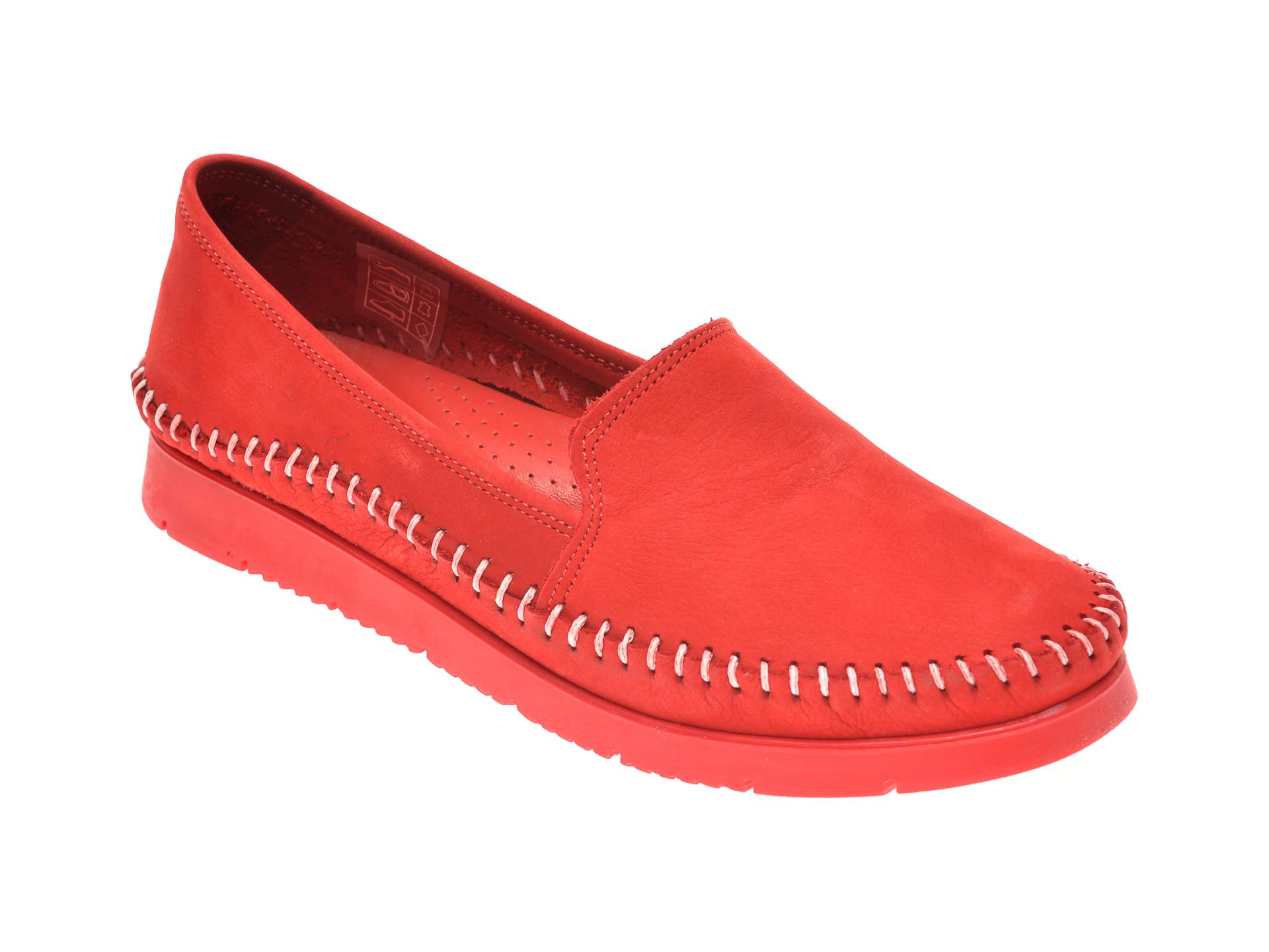 Pantofi SHE FAME rosii, 1427, din piele naturala
