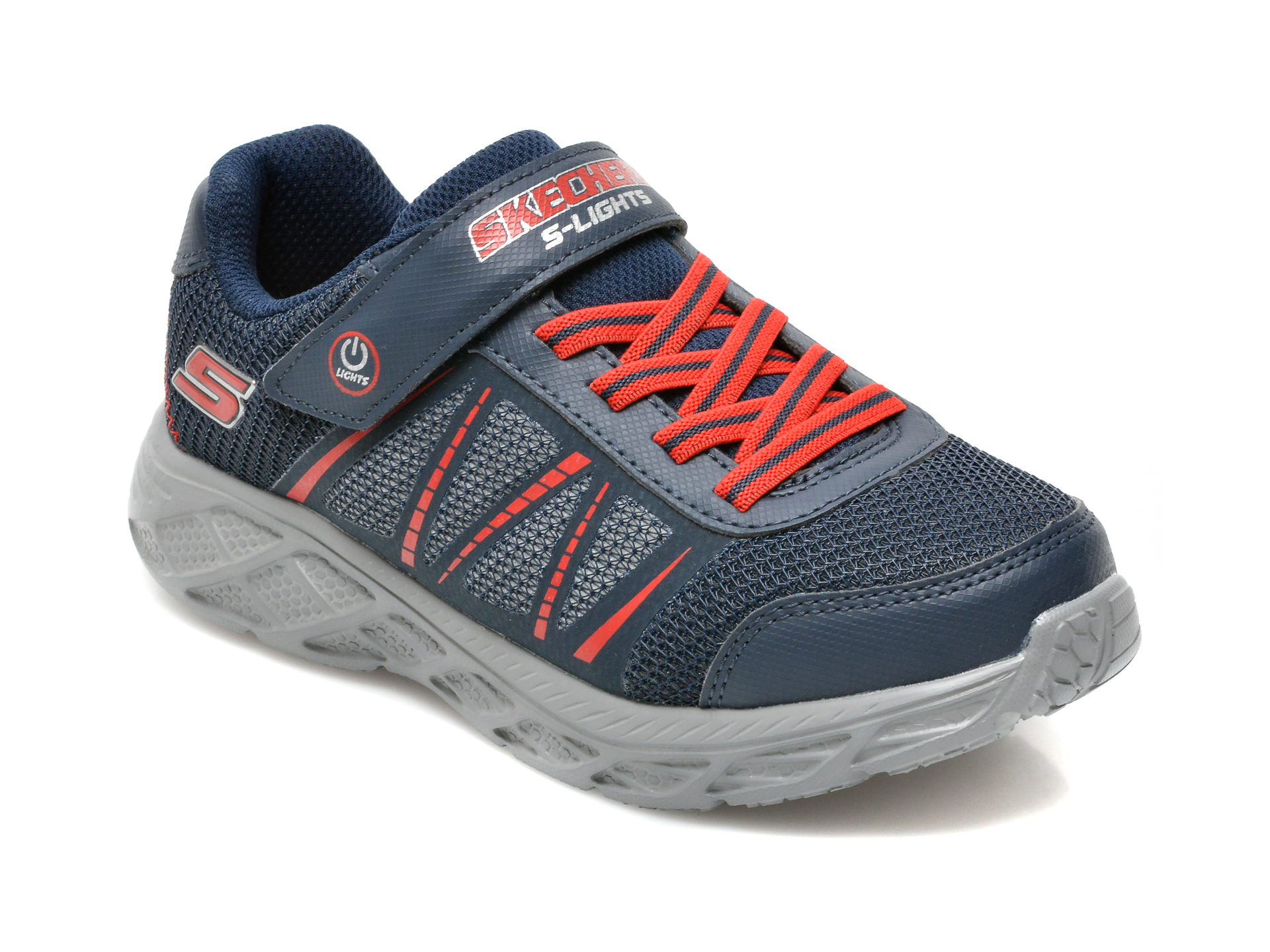 Pantofi SKECHERS bleumarin, DYNAMIC-FLASH, din piele ecologica