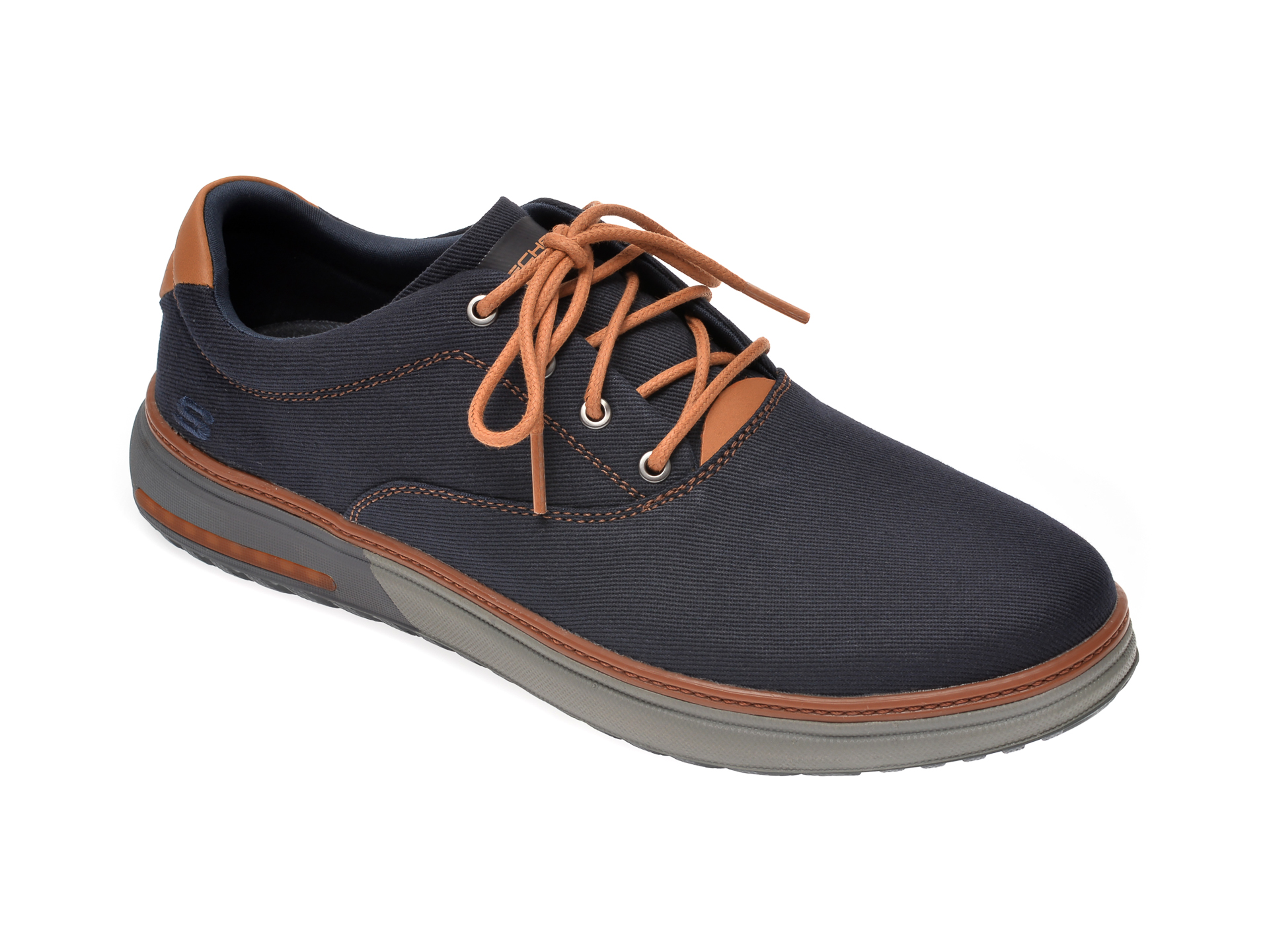 Pantofi SKECHERS bleumarin, Folten Verome, din material textil imagine