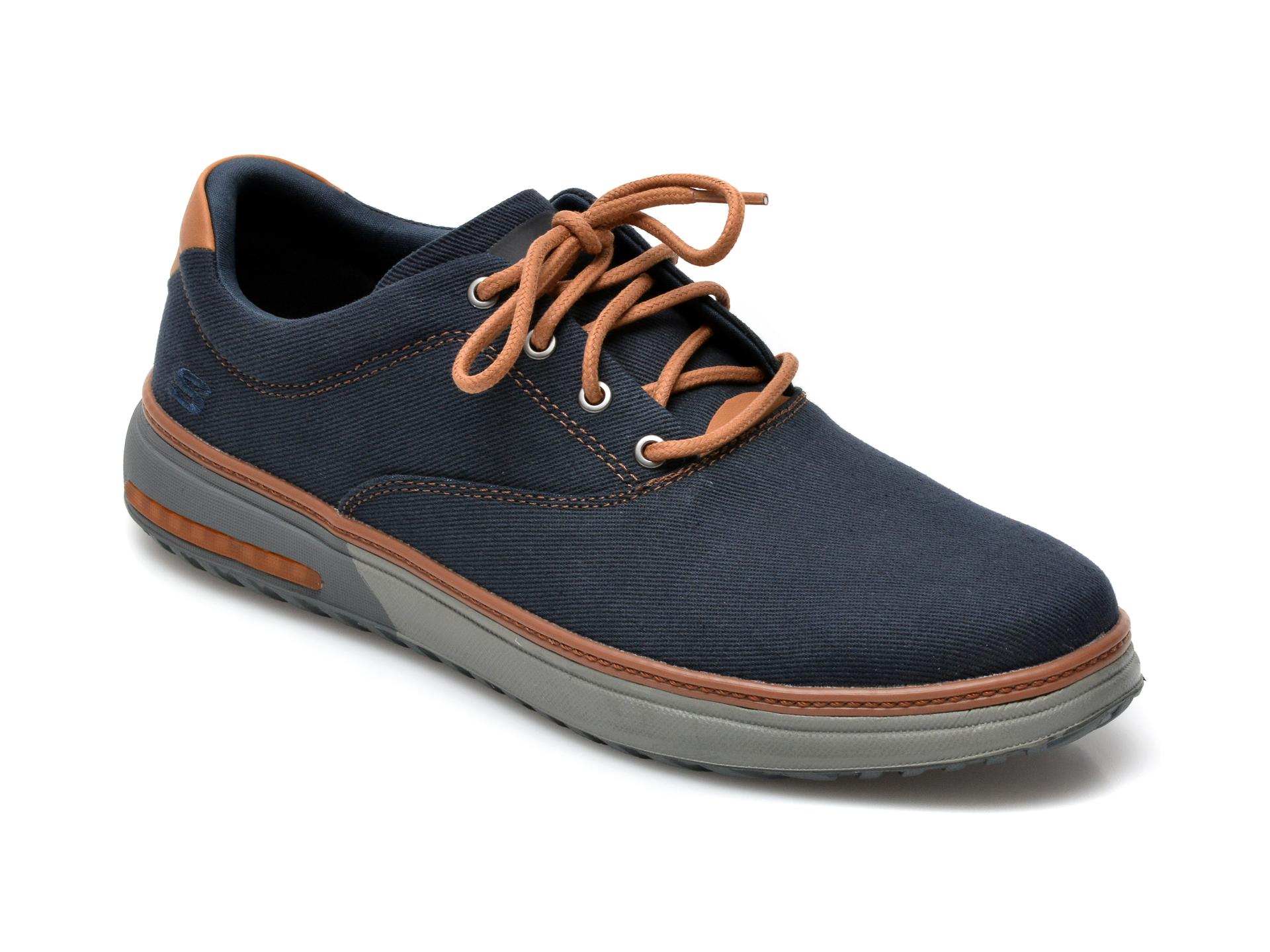 Pantofi SKECHERS bleumarin, Folten Verome, din material textil imagine otter.ro 2021