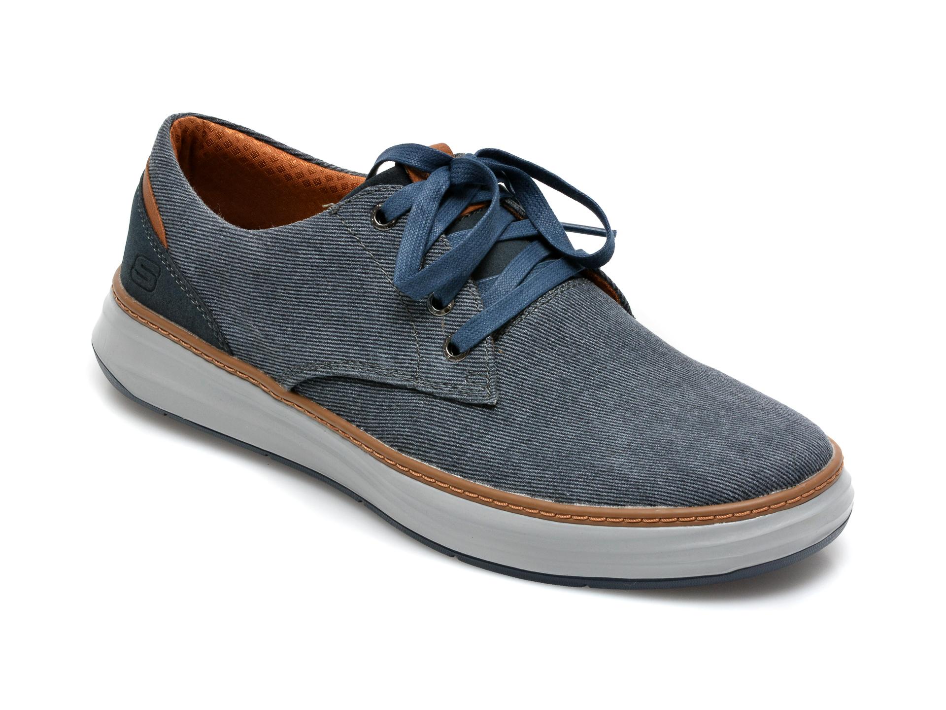 Pantofi SKECHERS bleumarin, Moreno Ederson, din material textil imagine