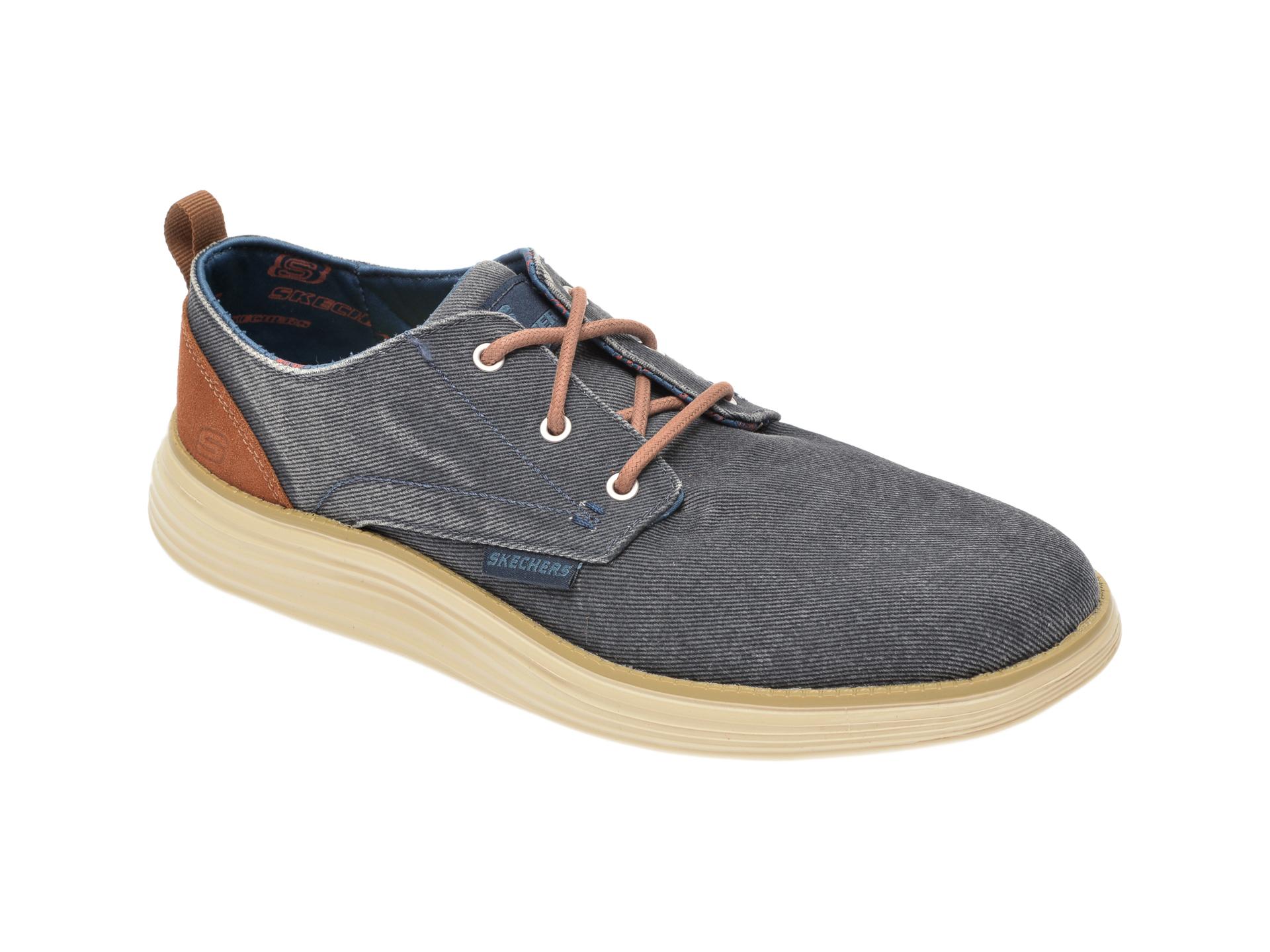 Pantofi SKECHERS bleumarin, Status 2.0 Pexton, din material textil