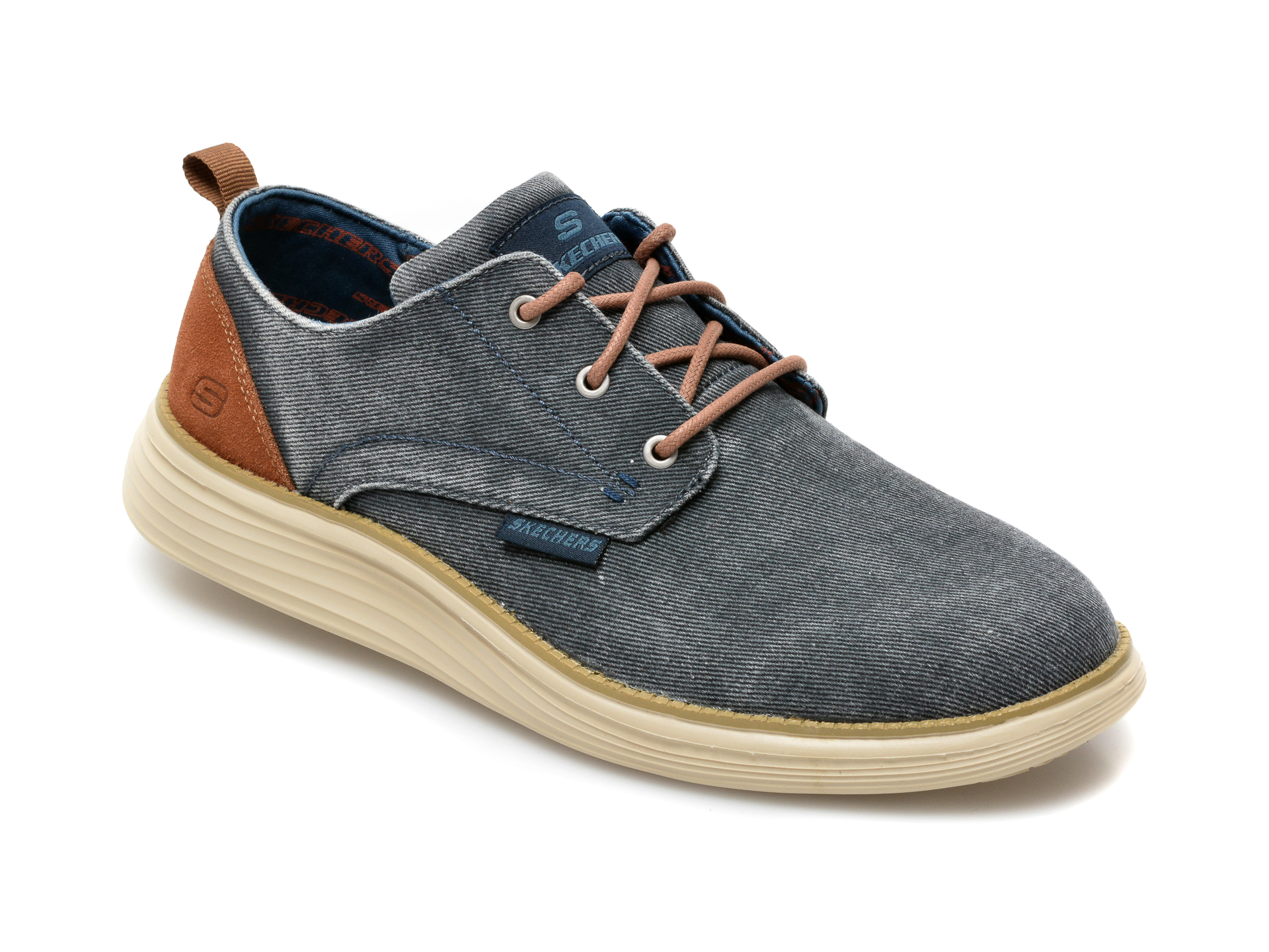 Pantofi SKECHERS bleumarin, Status 2.0 Pexton, din material textil imagine