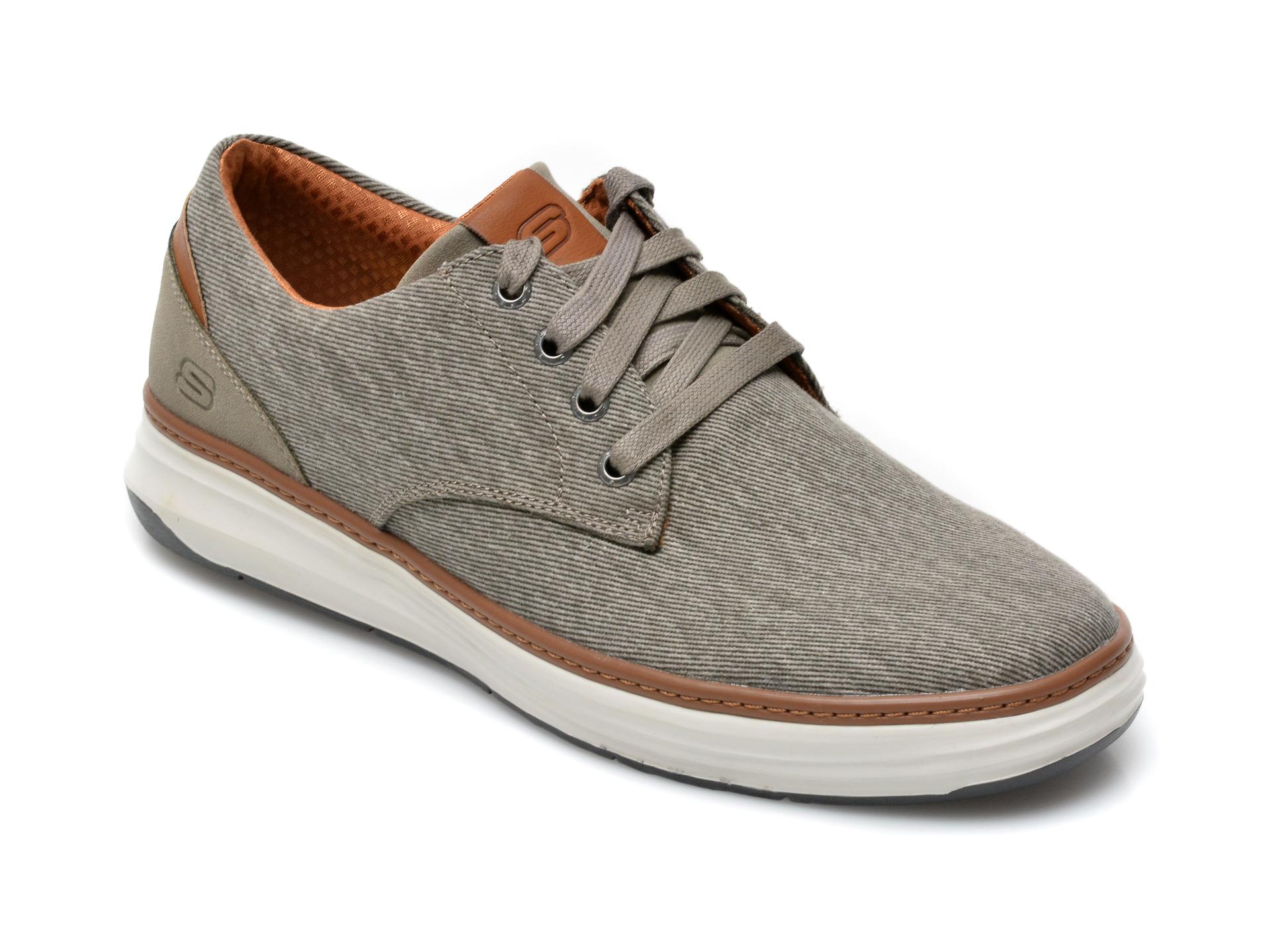 Pantofi SKECHERS gri, Moreno Ederson, din material textil imagine