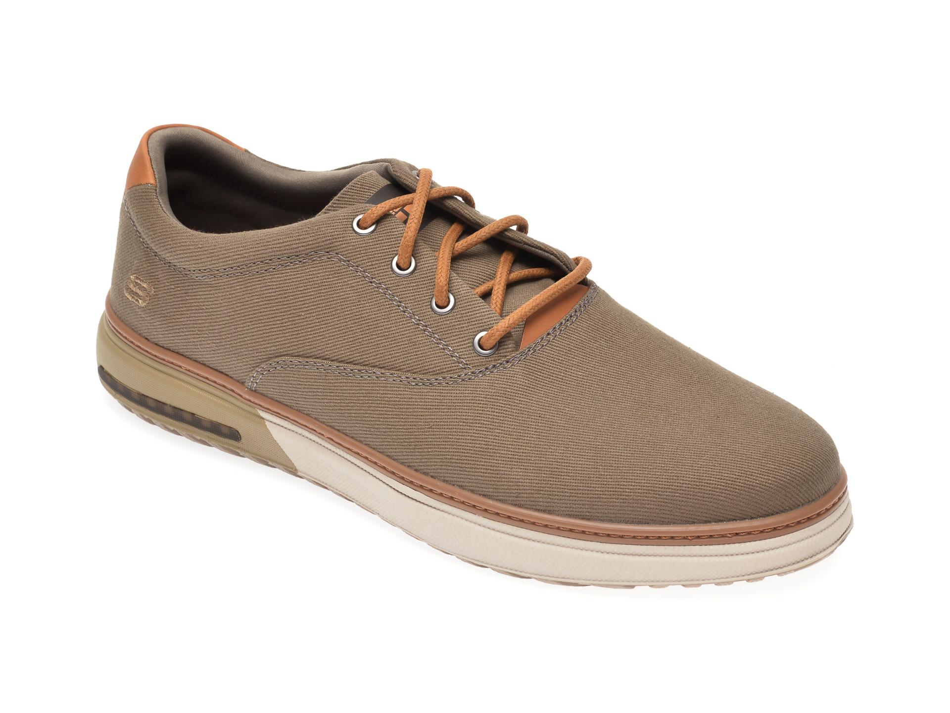 Pantofi SKECHERS kaki, Folten Verome, din material textil imagine