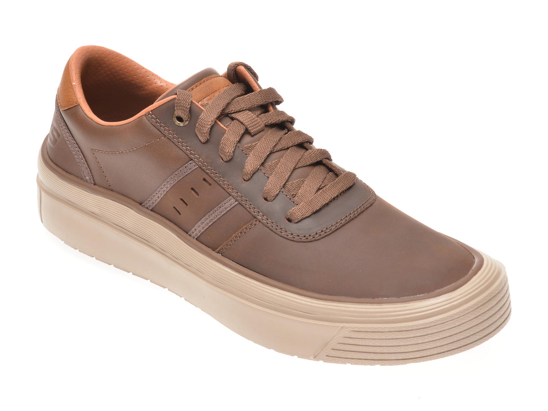 Pantofi SKECHERS maro, VIEWPORT BRAMBO, din piele naturala imagine