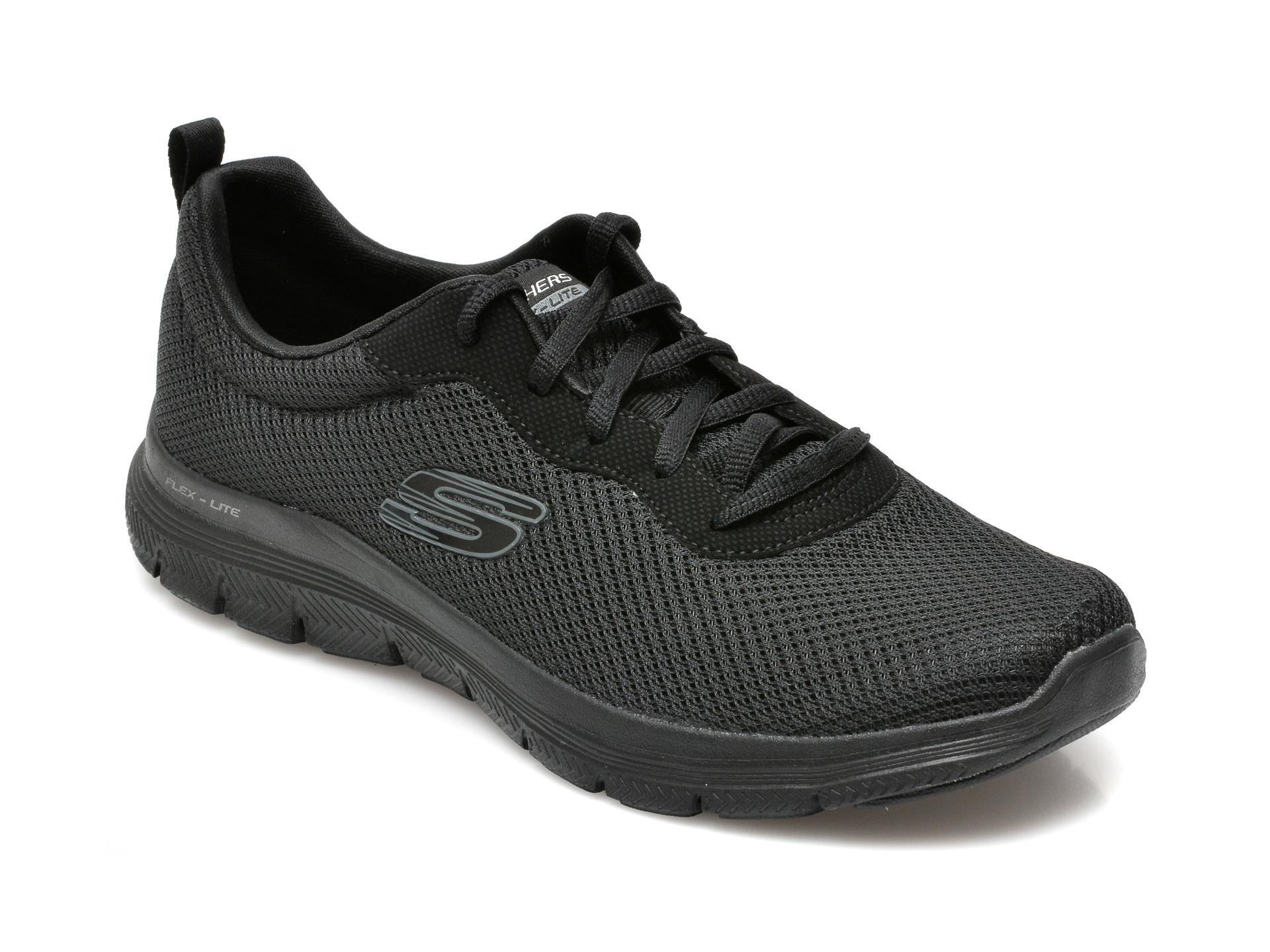 Pantofi SKECHERS negri, FLEX APPEAL 4.0, din material textil imagine 2021 otter.ro