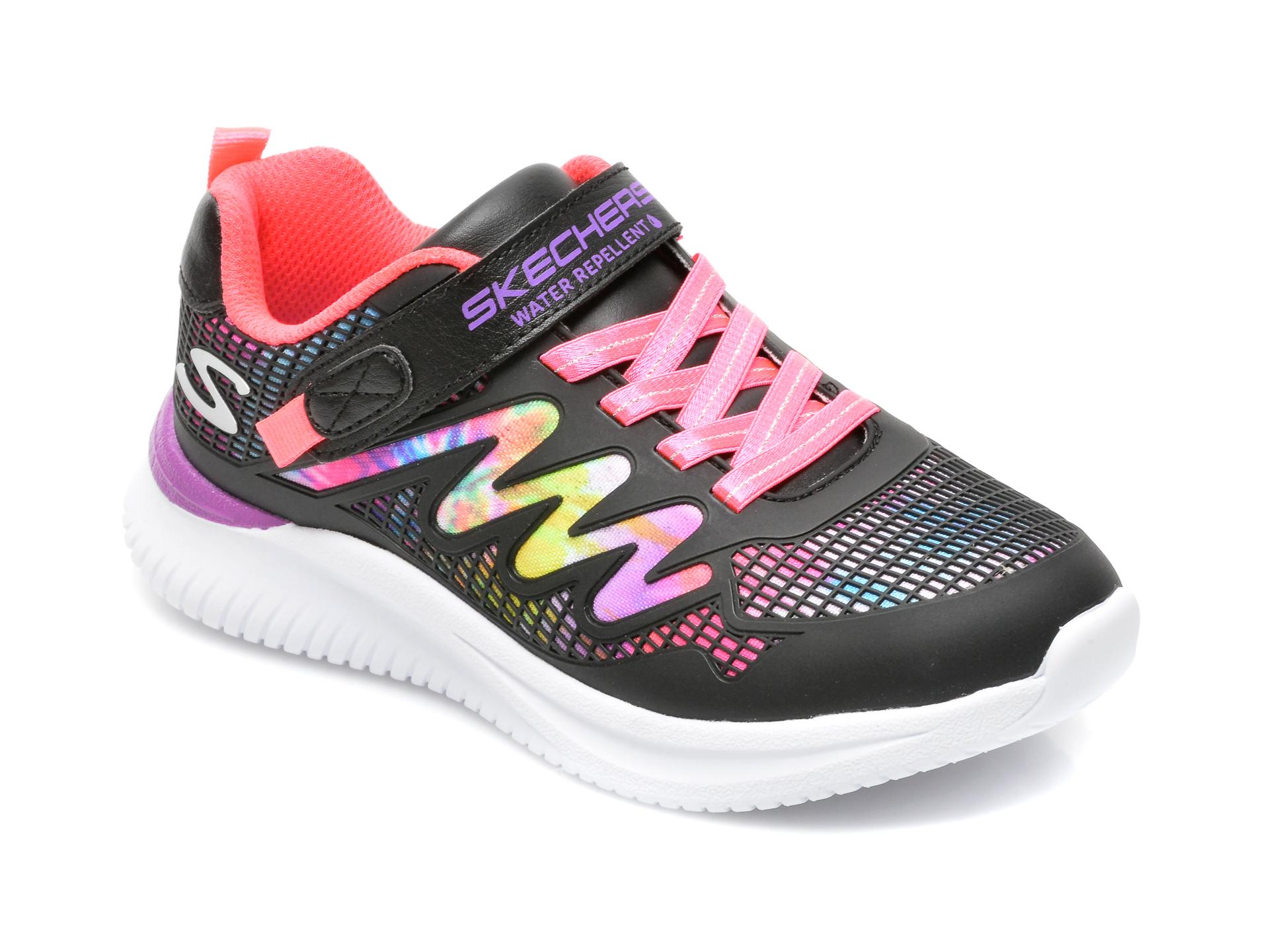 Pantofi SKECHERS negri, JUMPSTERS, din piele ecologica