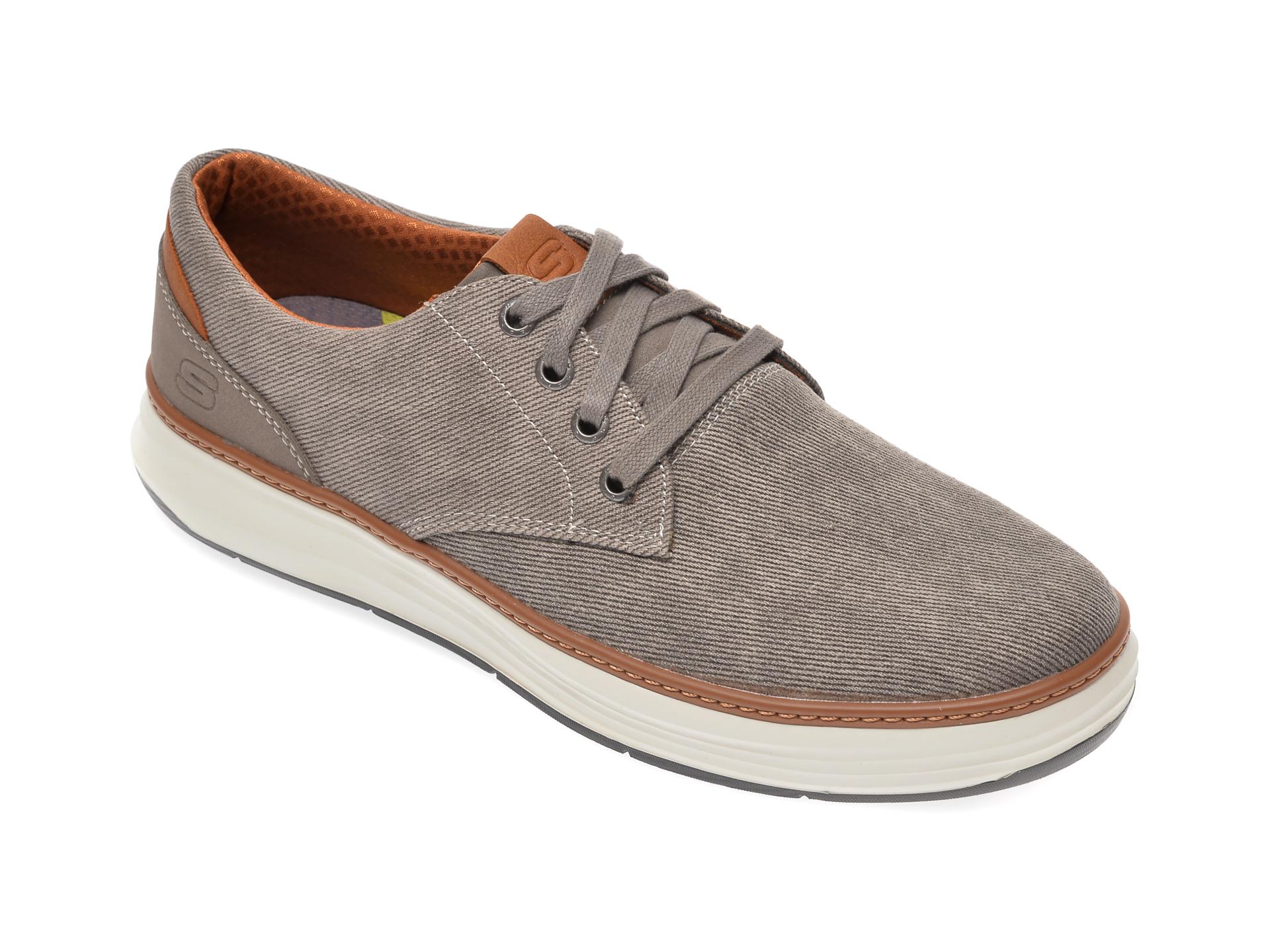 Pantofi SKECHERS taupe, Moreno Ederson, din material textil imagine