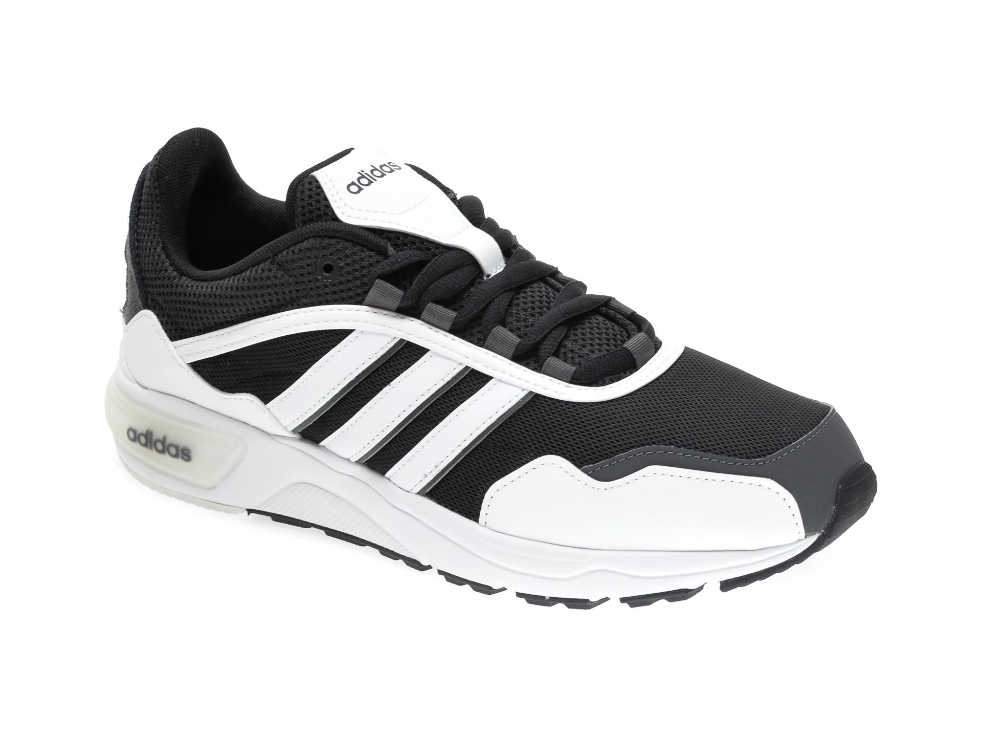 Pantofi sport ADIDAS alb-negru, 90S RUNNER, din material textil imagine
