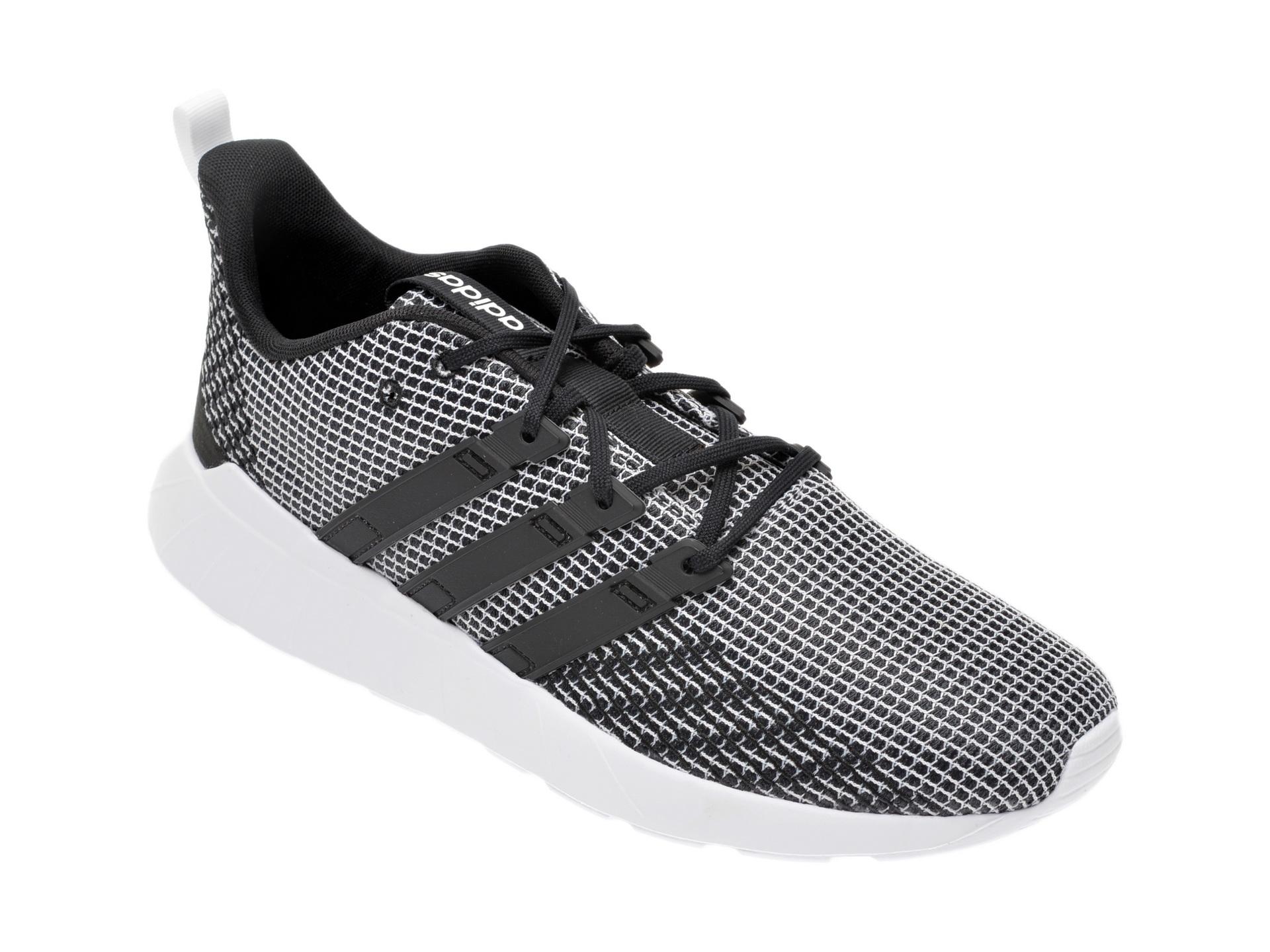 Pantofi sport ADIDAS alb-negru, Questar Flow, din material textil imagine