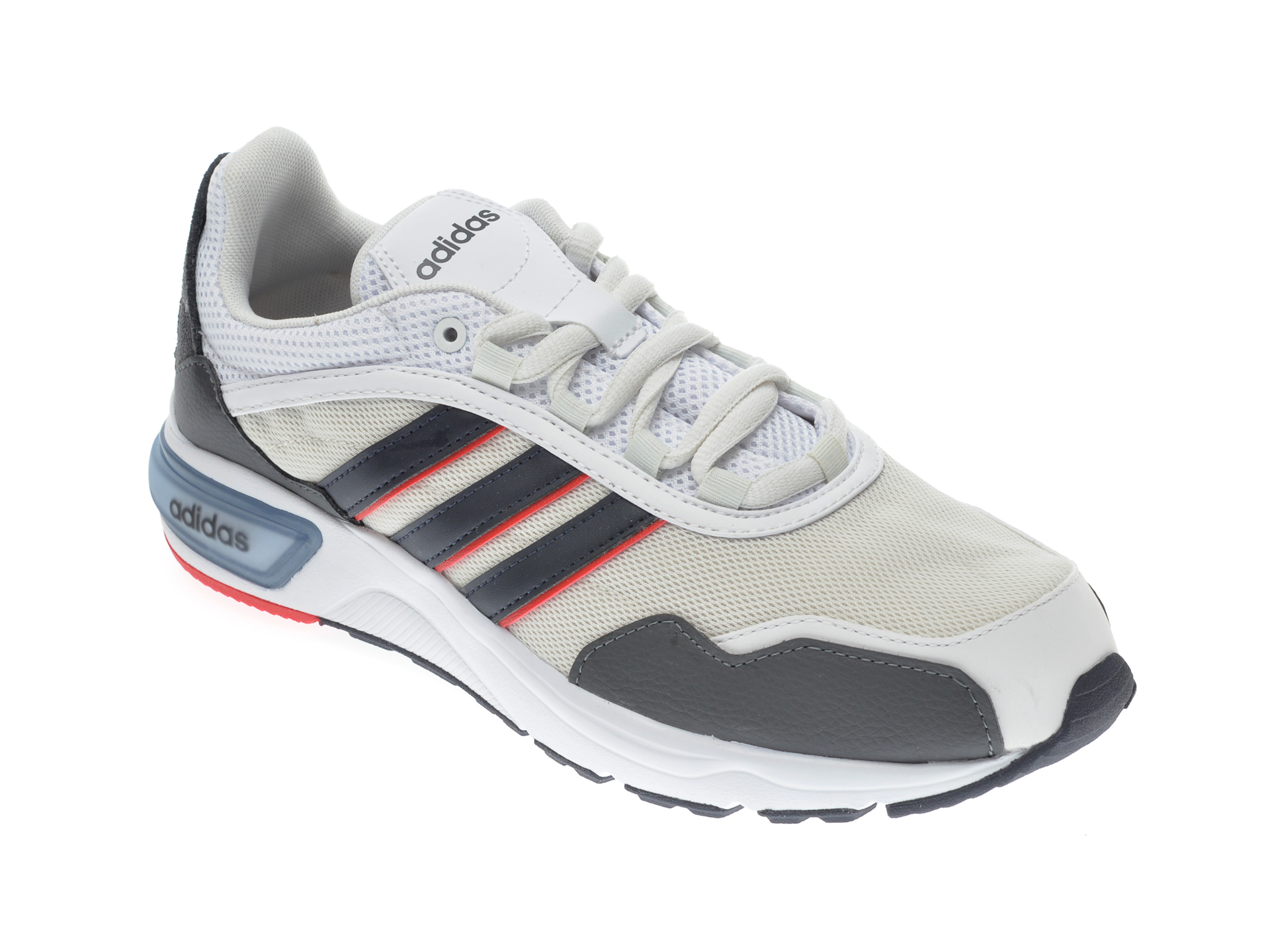Pantofi sport ADIDAS albi, 90S RUNNER, din material textil imagine