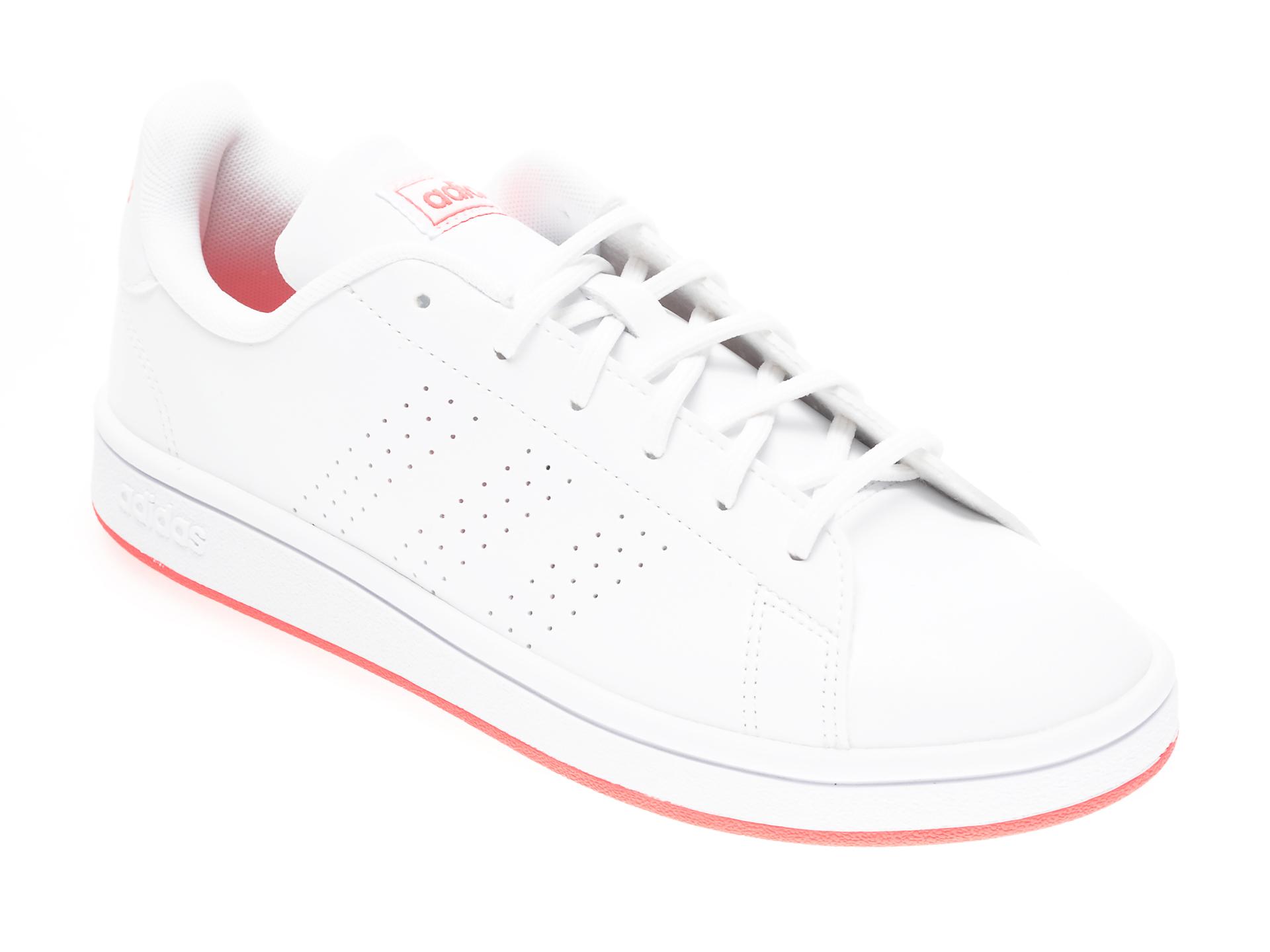 Pantofi sport ADIDAS albi, ADVANTAGE BASE, din piele ecologica imagine otter.ro