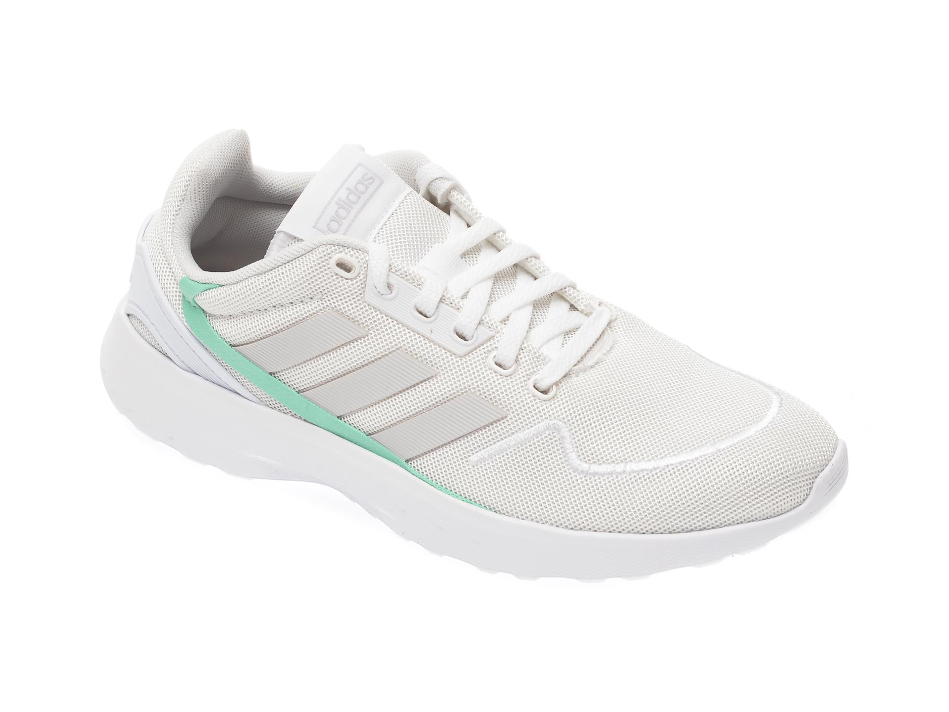 Pantofi sport ADIDAS albi, Nebzed, din material textil