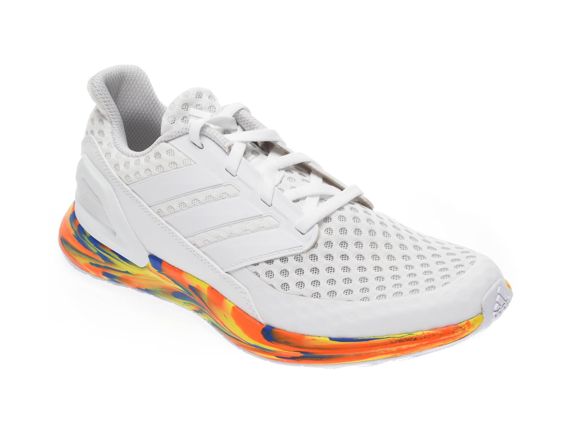 Pantofi sport ADIDAS albi, Rapidarun J, din material textil