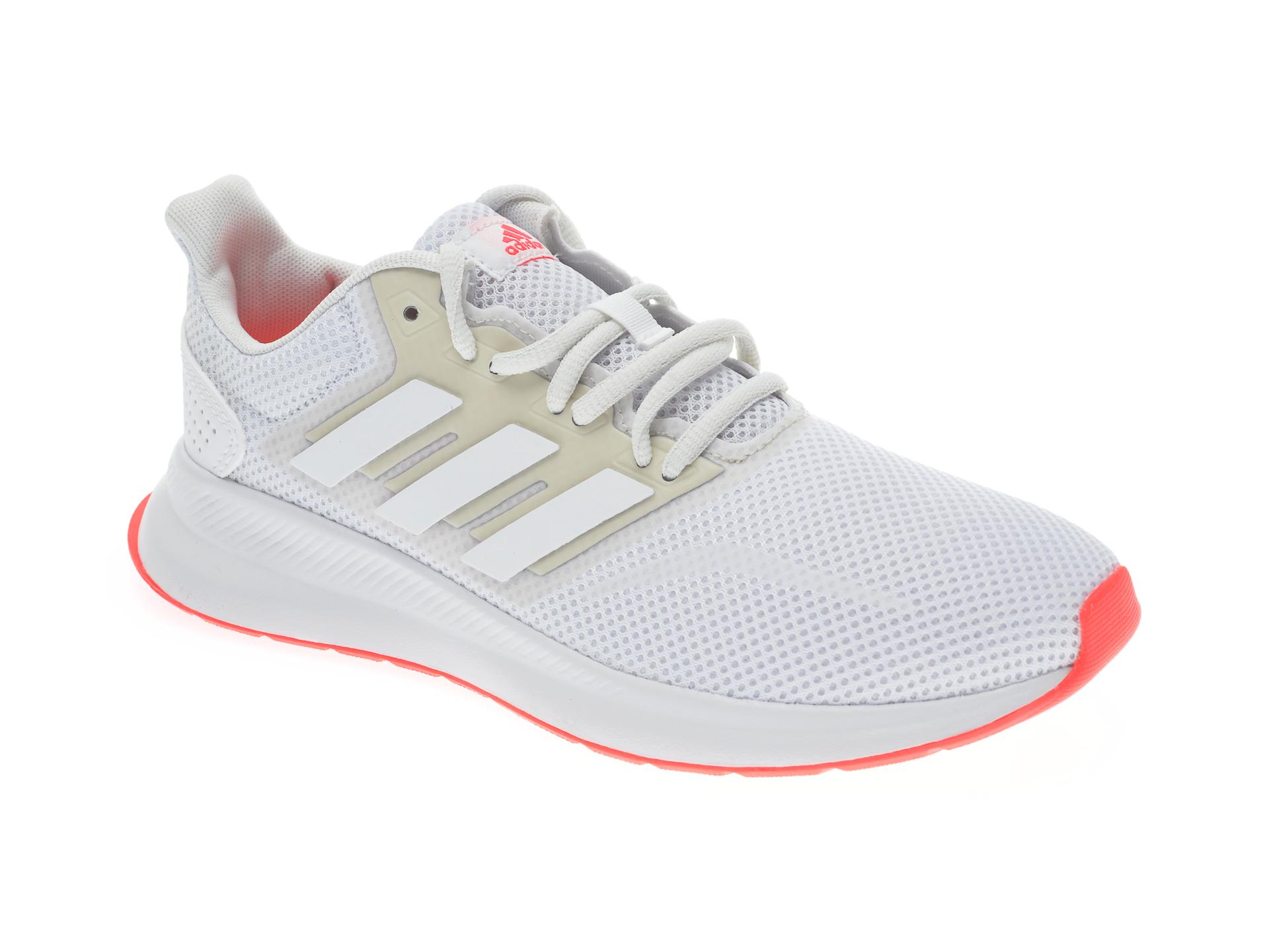Pantofi sport ADIDAS albi, RUNFALCON, din material textil imagine