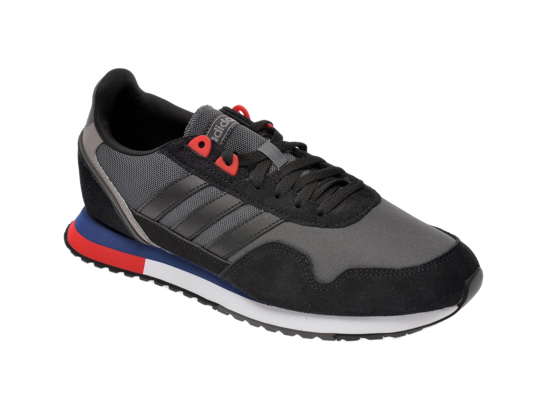 Pantofi Sport Adidas Negri, 8k 2020, Din Material Textil Si Piele Intoarsa