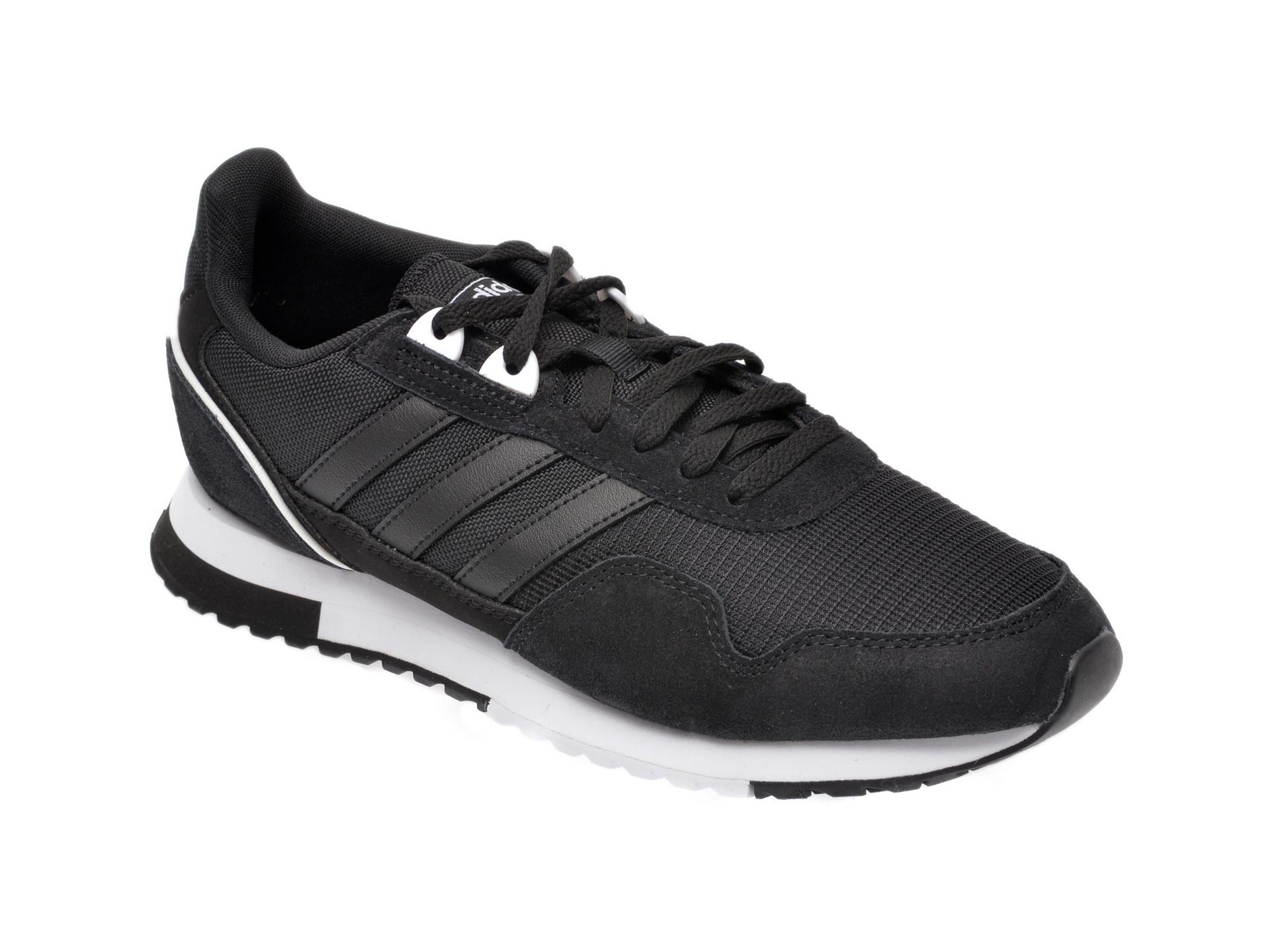 Pantofi sport ADIDAS negri, 8K 2020, din material textil si piele intoarsa imagine